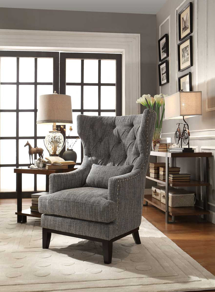 ADRIANO ACCENT CHAIR WITH PILLOW-1217F1S