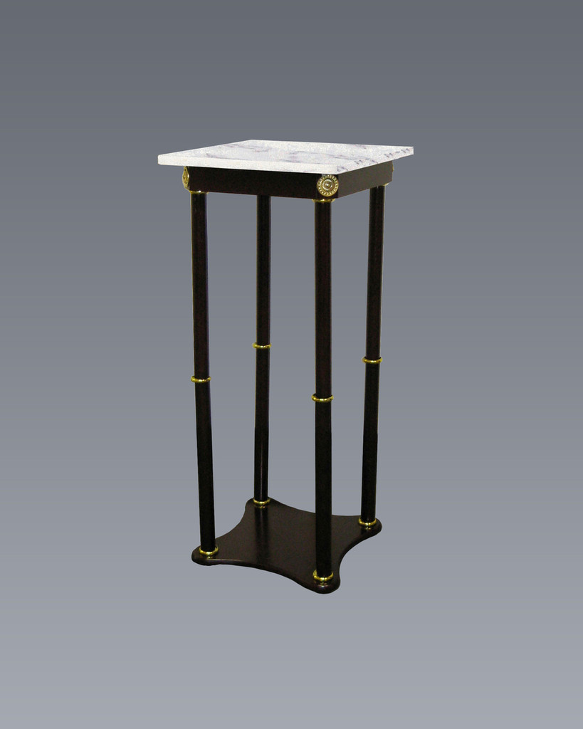 SQUARE WHITE MARBLE STAND-2033WH