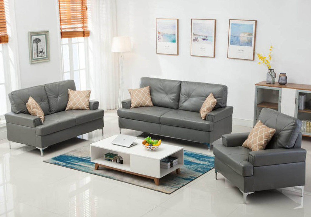 3PC SKYHOUSE SOFA, LOVESEAT, AND CHAIR IN GRAY-HH-SKYHOUSE-GRY