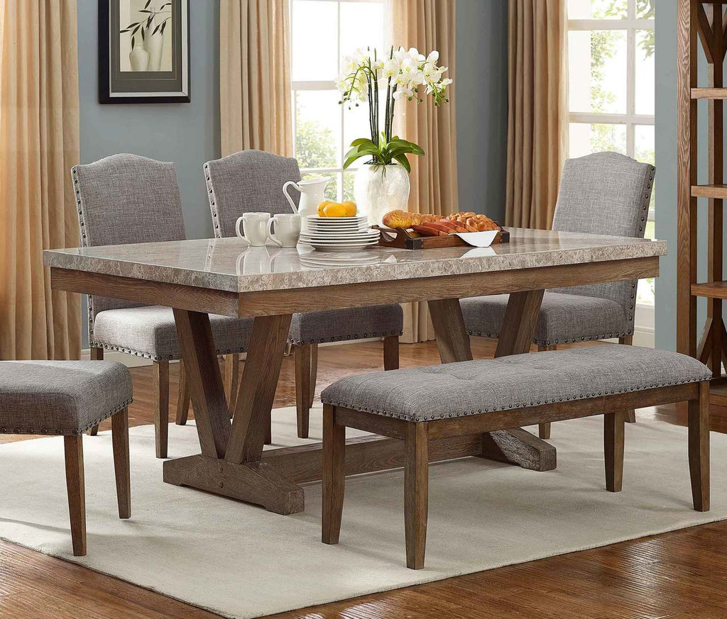 VESPER MARBLE DINING TABLE-1211T