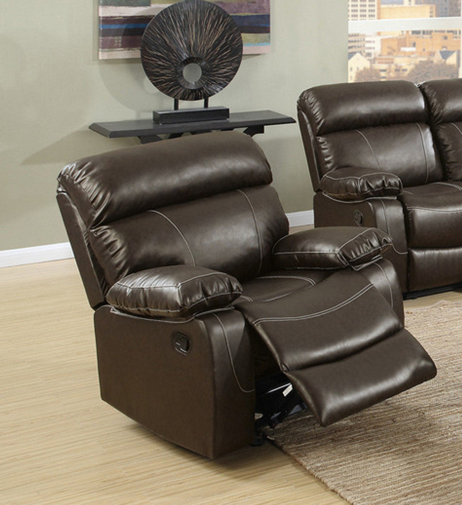 Marvelous 2Pc Mauritis Sofa And Loveseat Recliner In Espresso Uwap Interior Chair Design Uwaporg