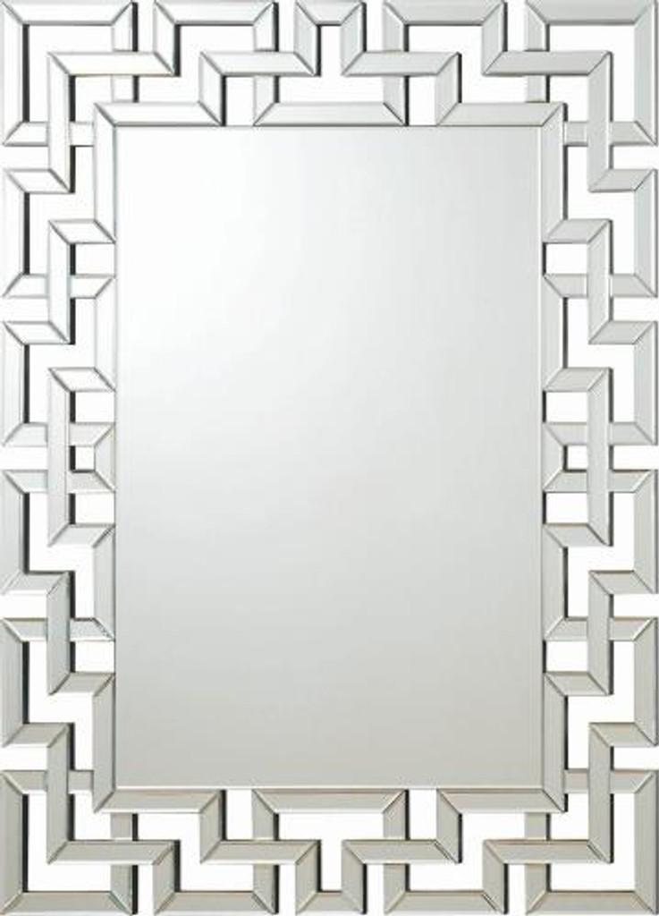 Accent Mirror Frameless Greek Key Mirror