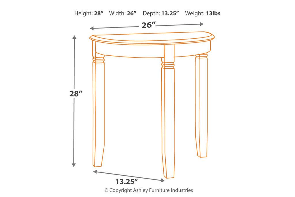 BIRCHATTA WHITE CONSOLE TABLE-A4000055