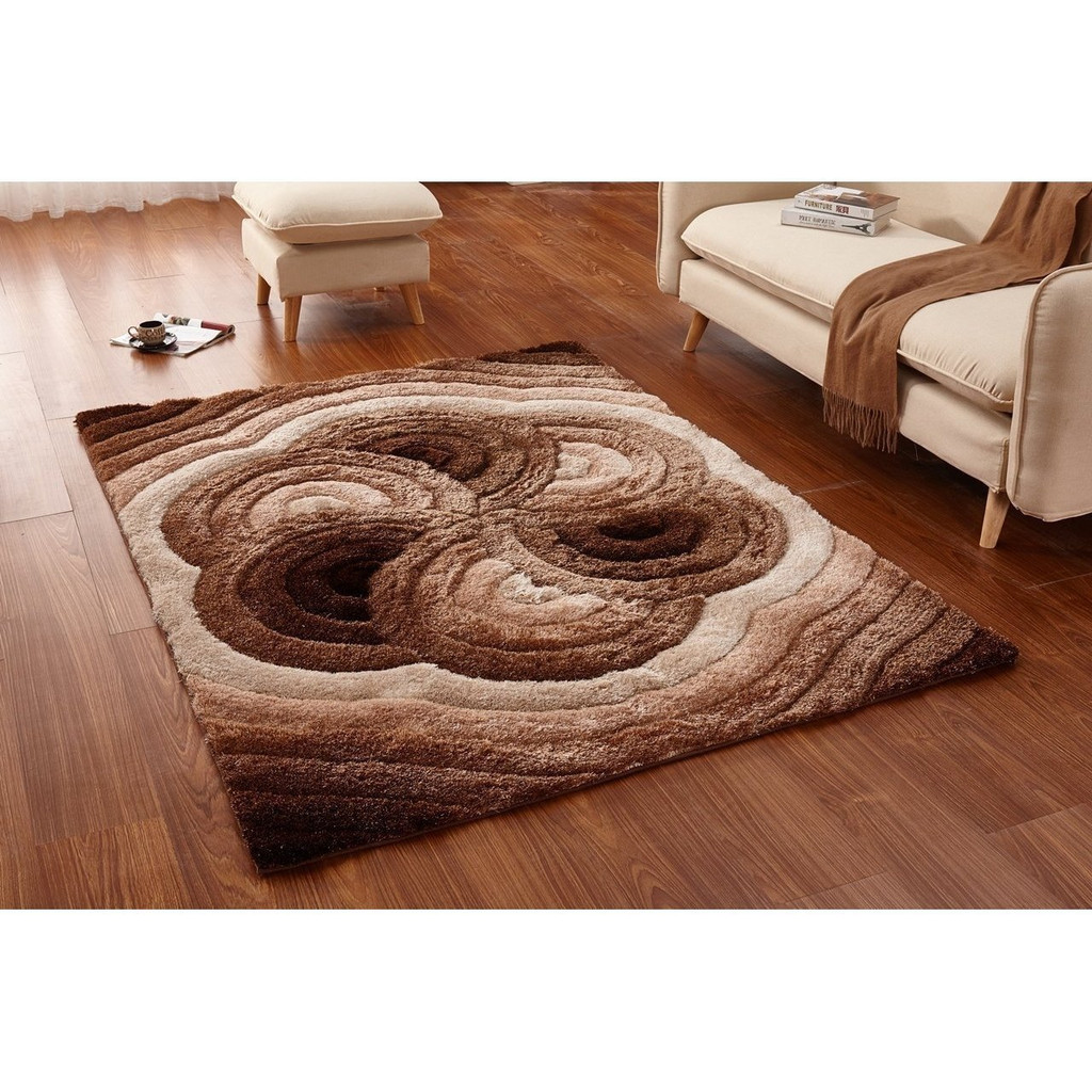 Casa Regina Shag - 3D Brown/Beige Area Rug