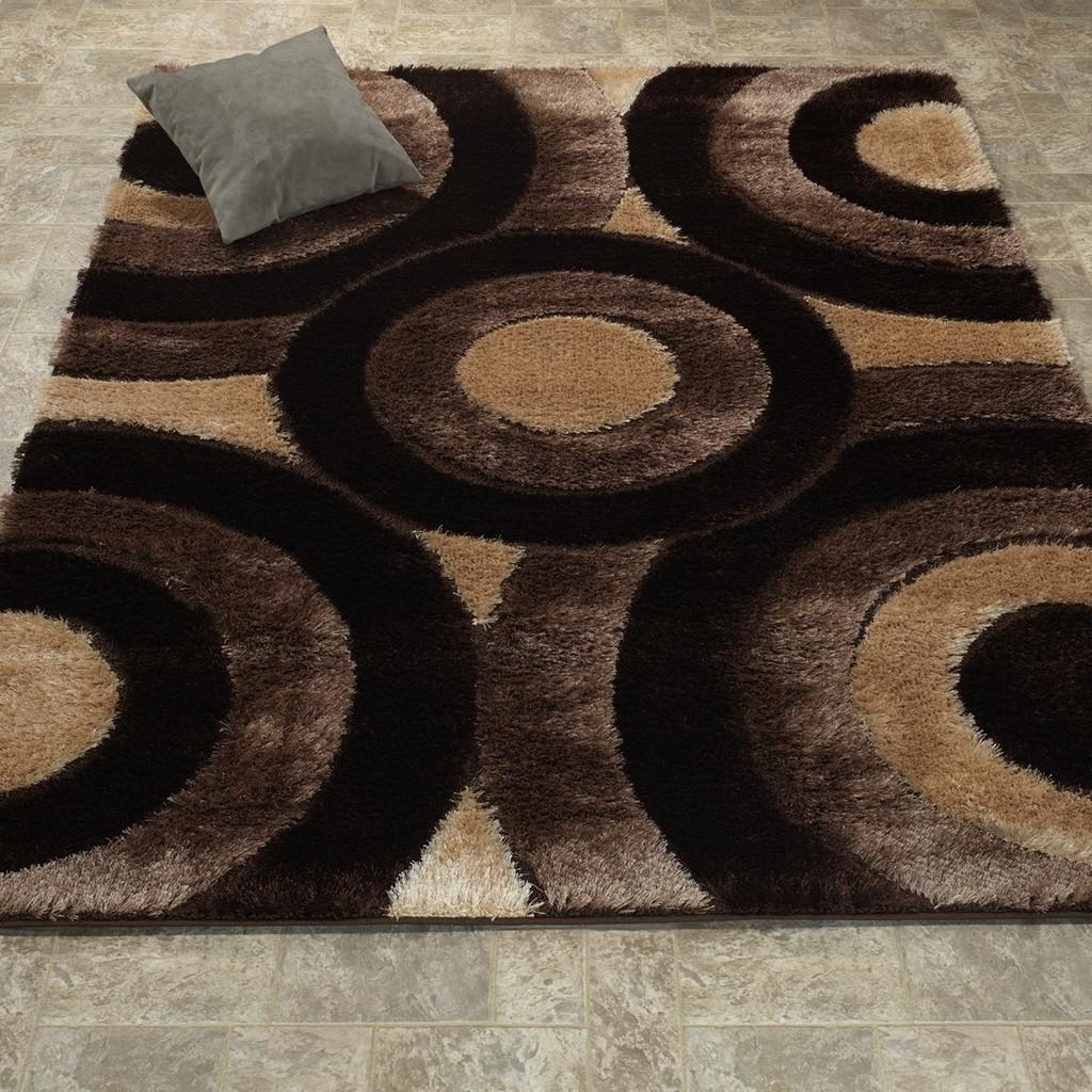 Casa Shag 3D-Brown/Beige Area Rug