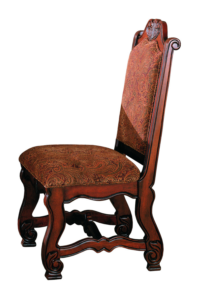 2 Pc Neo Renaissance Side Chair Set Special single chair 2nd view