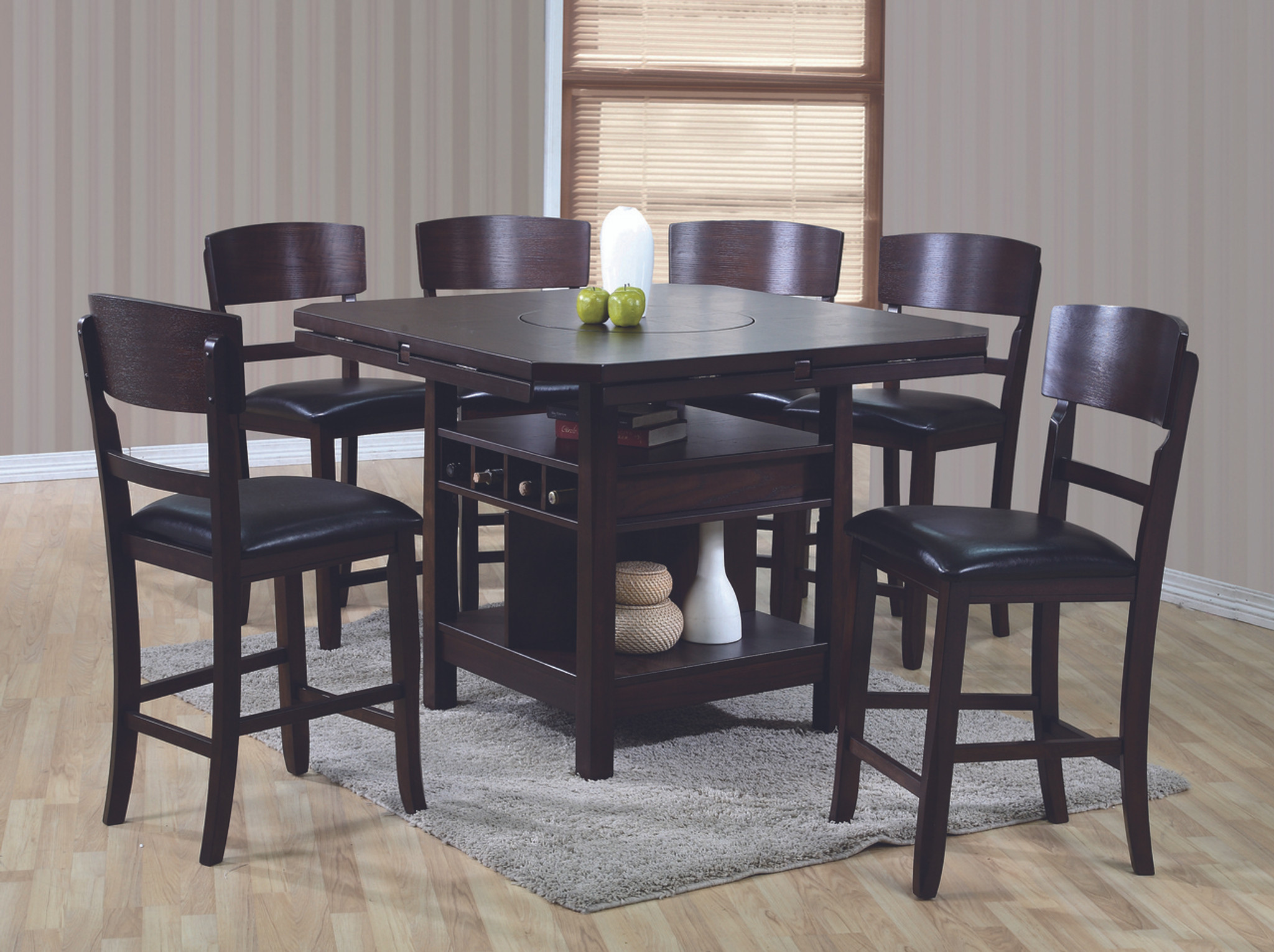 Espresso Dining Room Table With Leaf 2