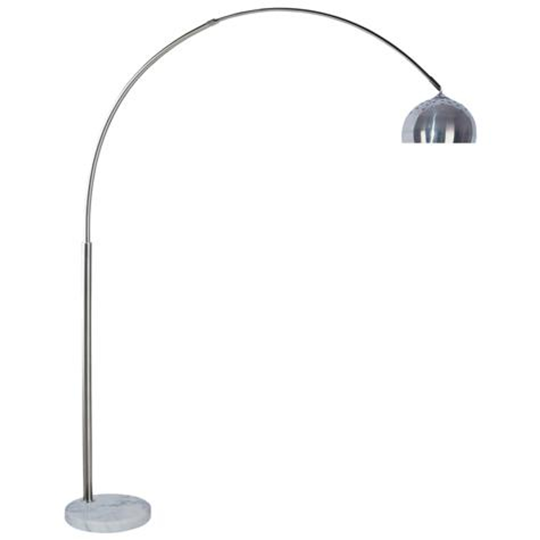 6221 Arc Floor Lamp With Dome Shade Marble Base Collection By Crown Mark