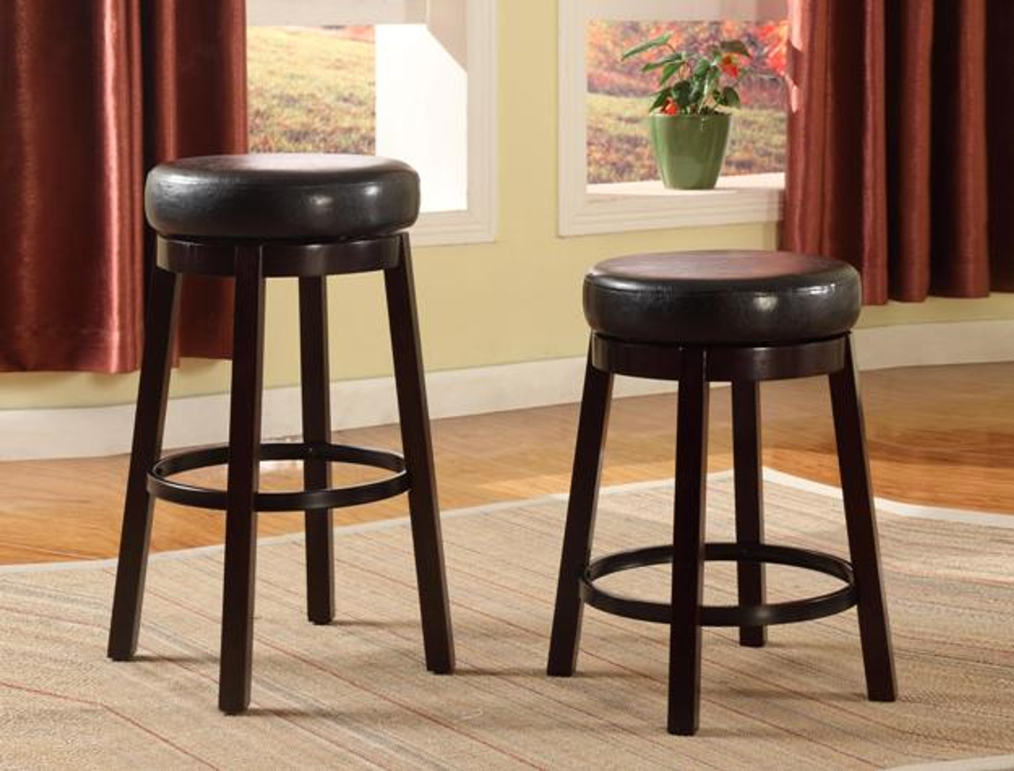 Picture of: Wendy Pub Or Bar Stool In Espresso Set Of 2 Km Home Furniture