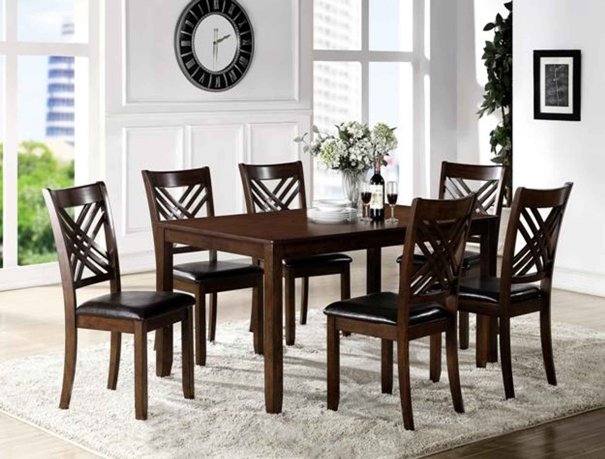 Eloise 7 Pc Dining Room Table Set Set Km Home Furniture