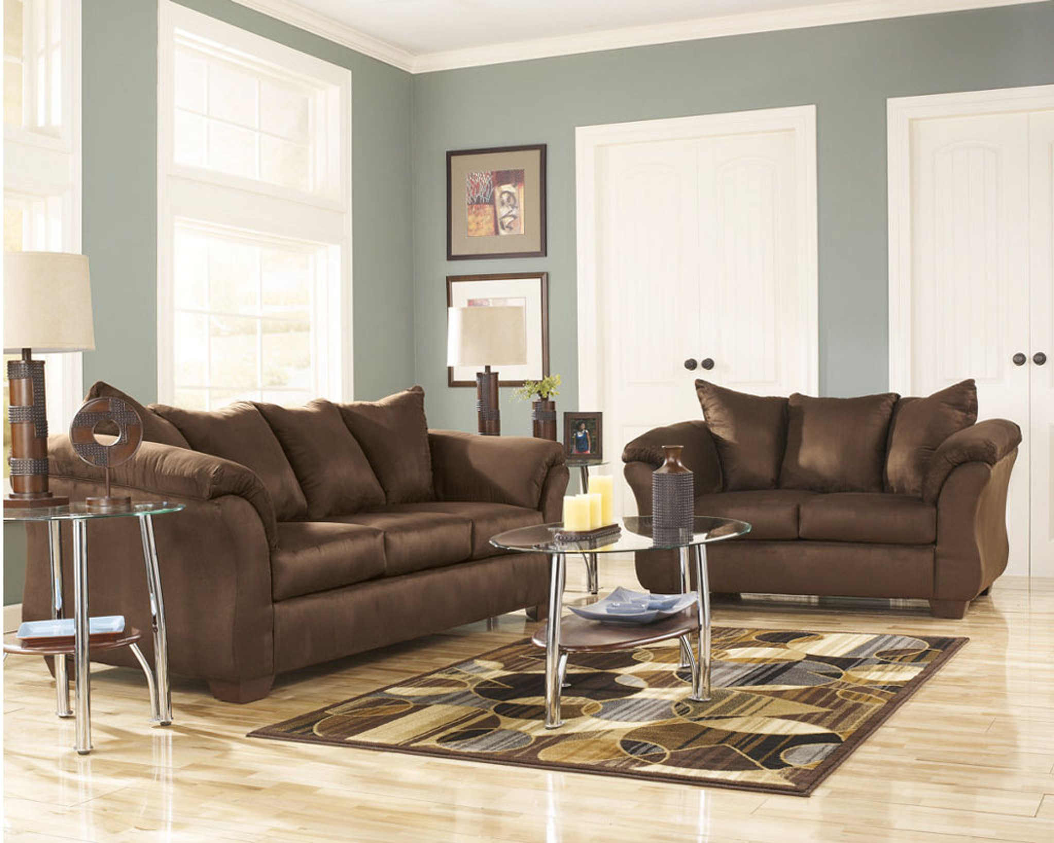 Admirable 2Pc Ashley Darcy Sofa And Loveseat Cafe Dailytribune Chair Design For Home Dailytribuneorg