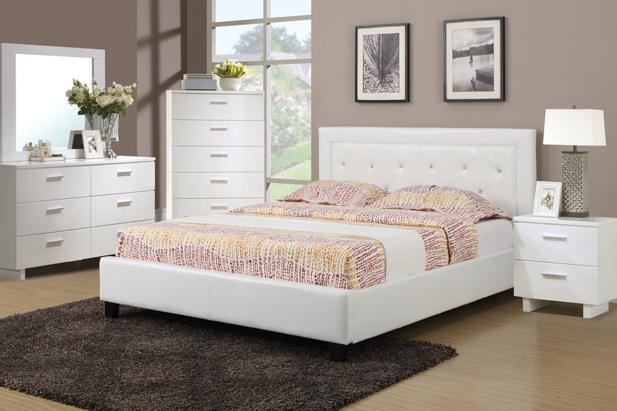 Beatrice Platform Upholstered Bed Full Or Queen Km Home Furniture Mattress