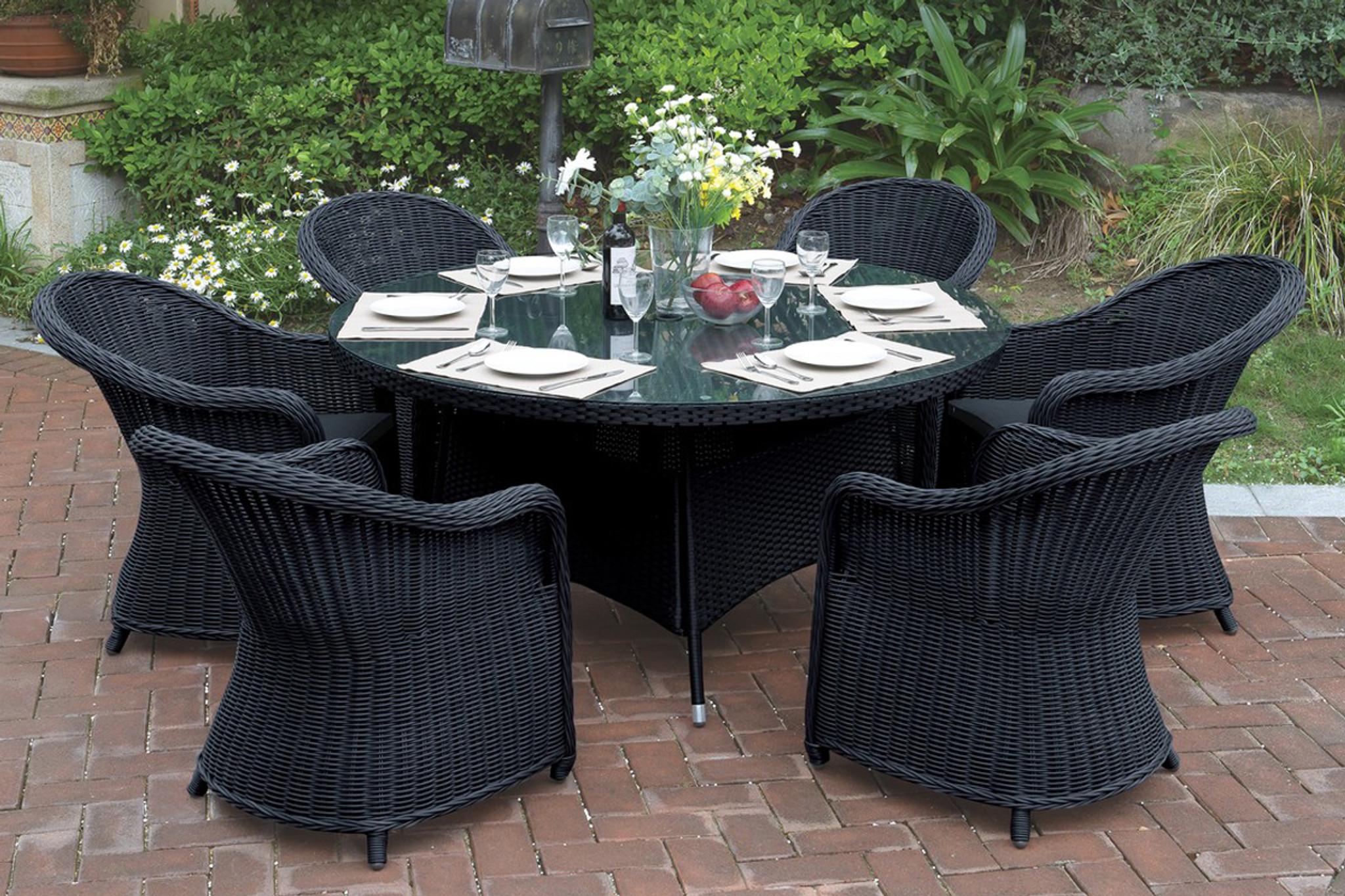 Awesome 7Pcs Cottage Style Outdoor Patio Table Set Beutiful Home Inspiration Truamahrainfo