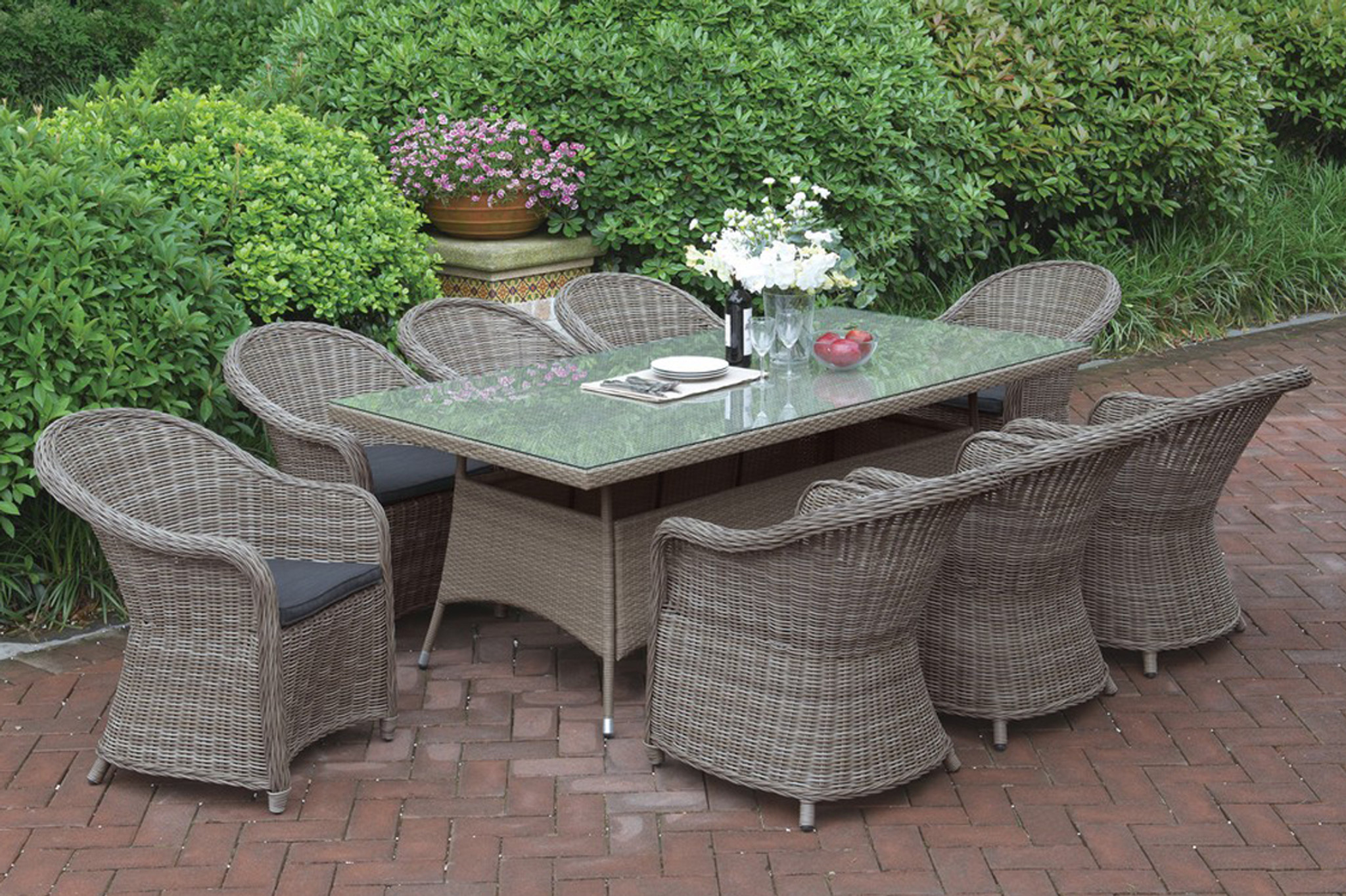 Kassa Mall Home Furniture 233 9pcs Outdoor Patio Table Set