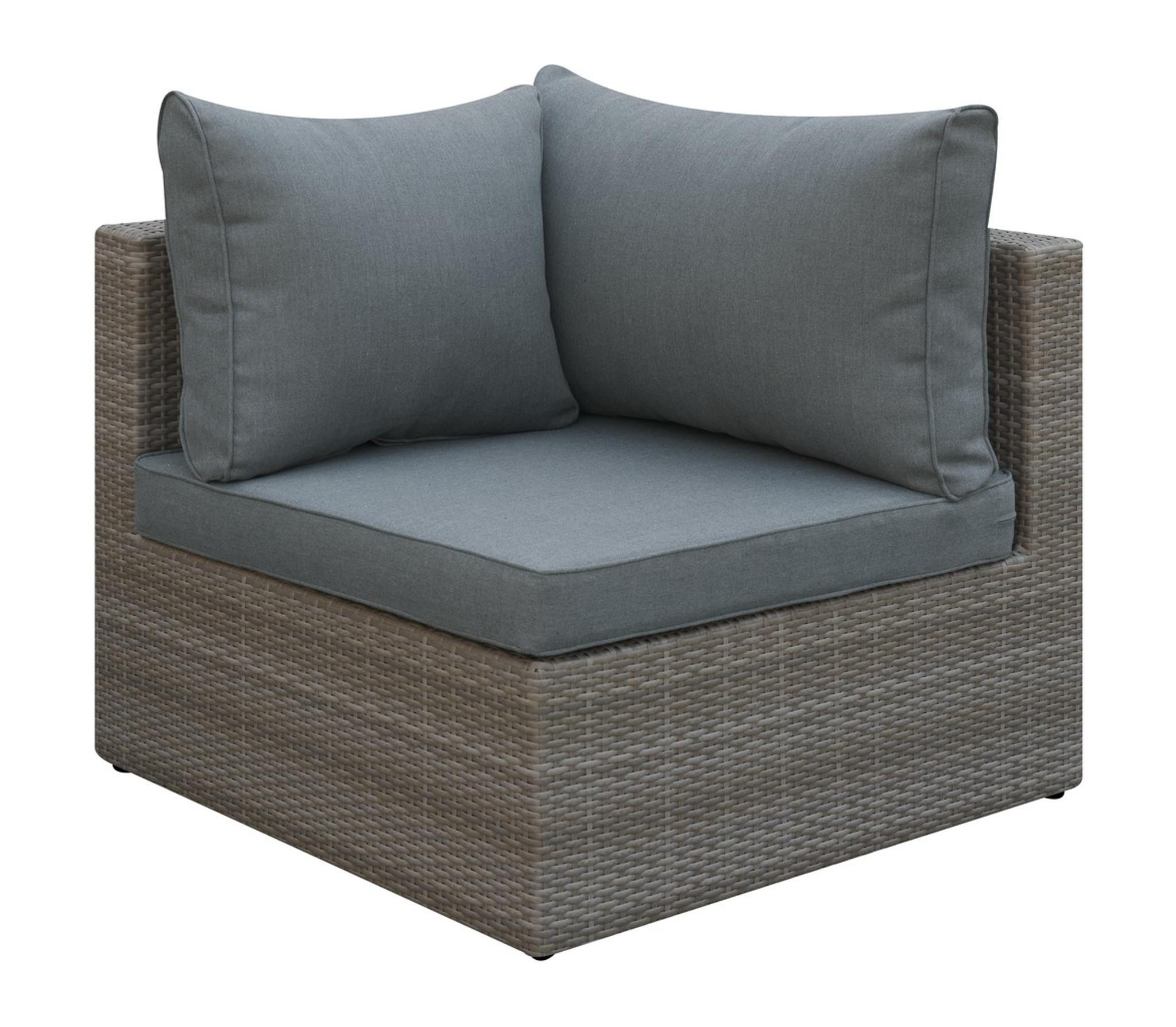 Kassa Mall Home Furniture P50141 Outdoor Corner Wedge Tan Resin