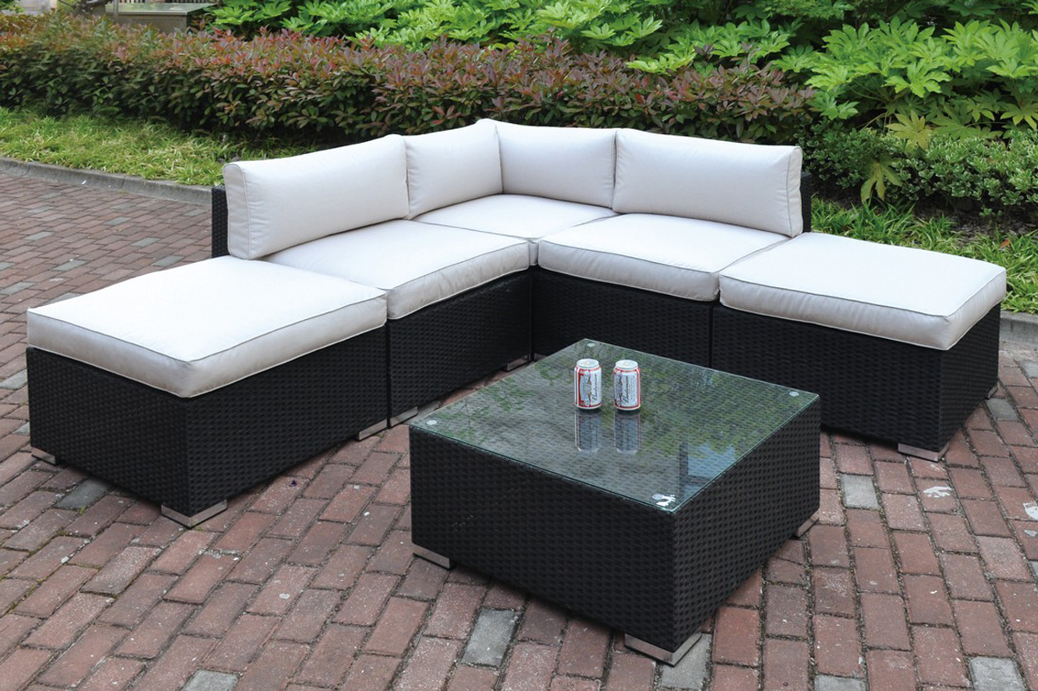 Kassa Mall Home Furniture 426 6pc Outdoor Patio Sectional Set In