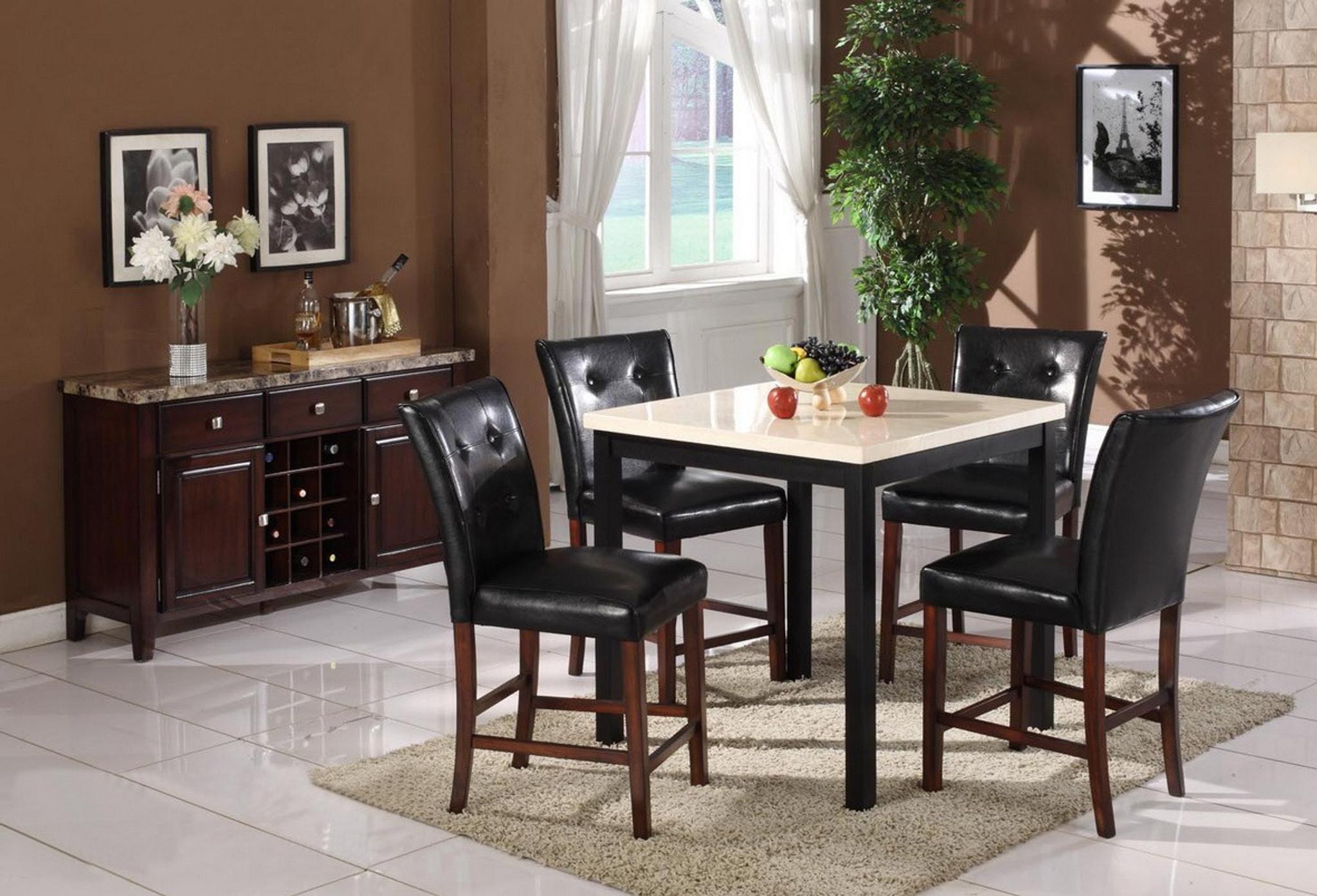 Astonishing Samuele Counter Height Table Bar Stool 5 Pc Set Beatyapartments Chair Design Images Beatyapartmentscom
