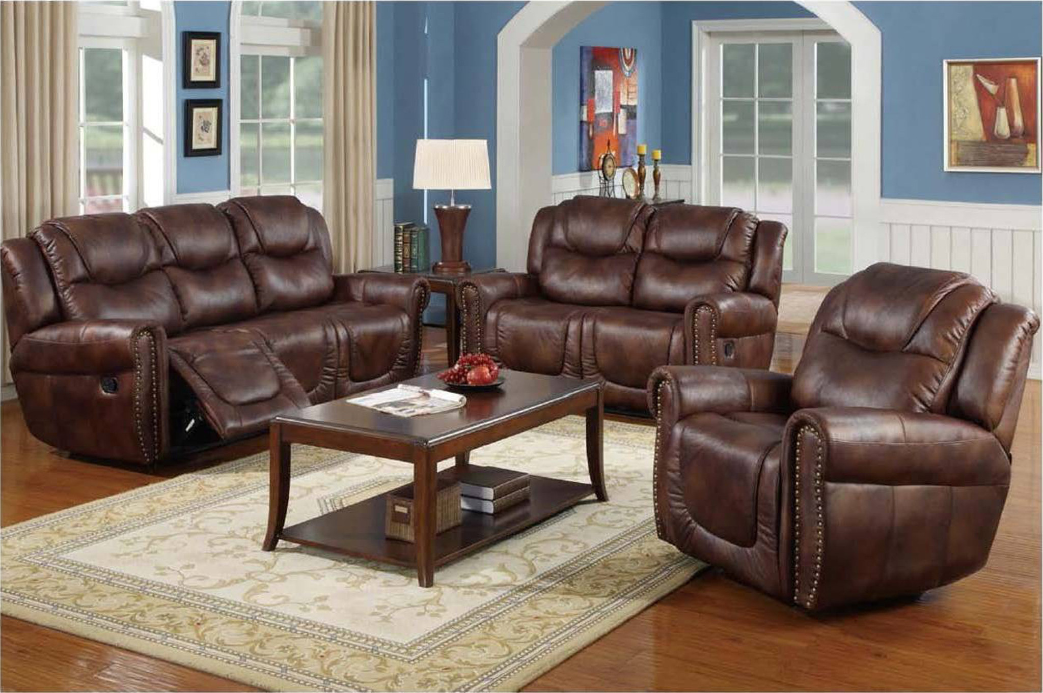 Gs3700 Nicolo Sofa Loveseat With Chair 3 Pc Set Collection By
