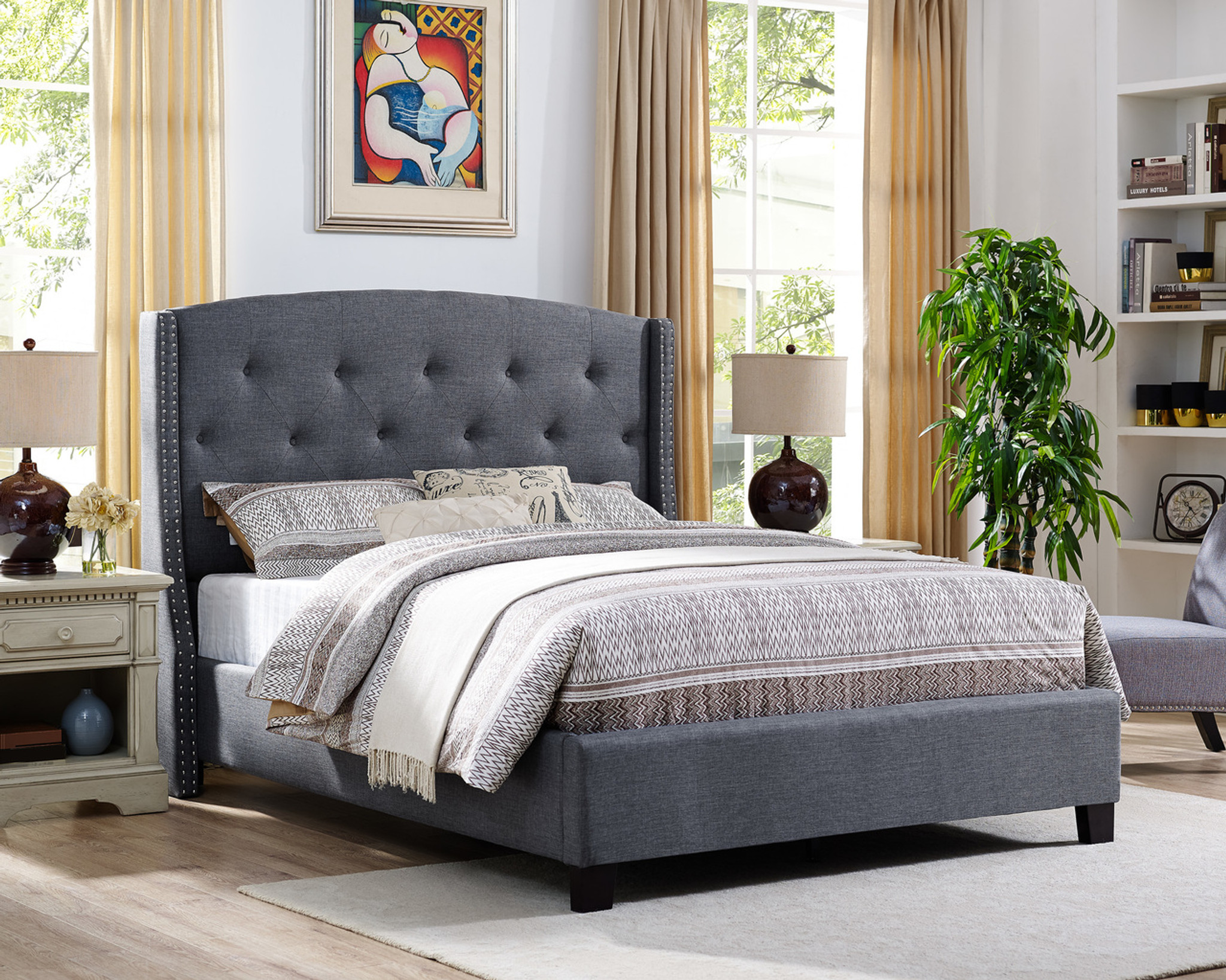 5111gy Eva Daybed Grey Collection By Crown Mark
