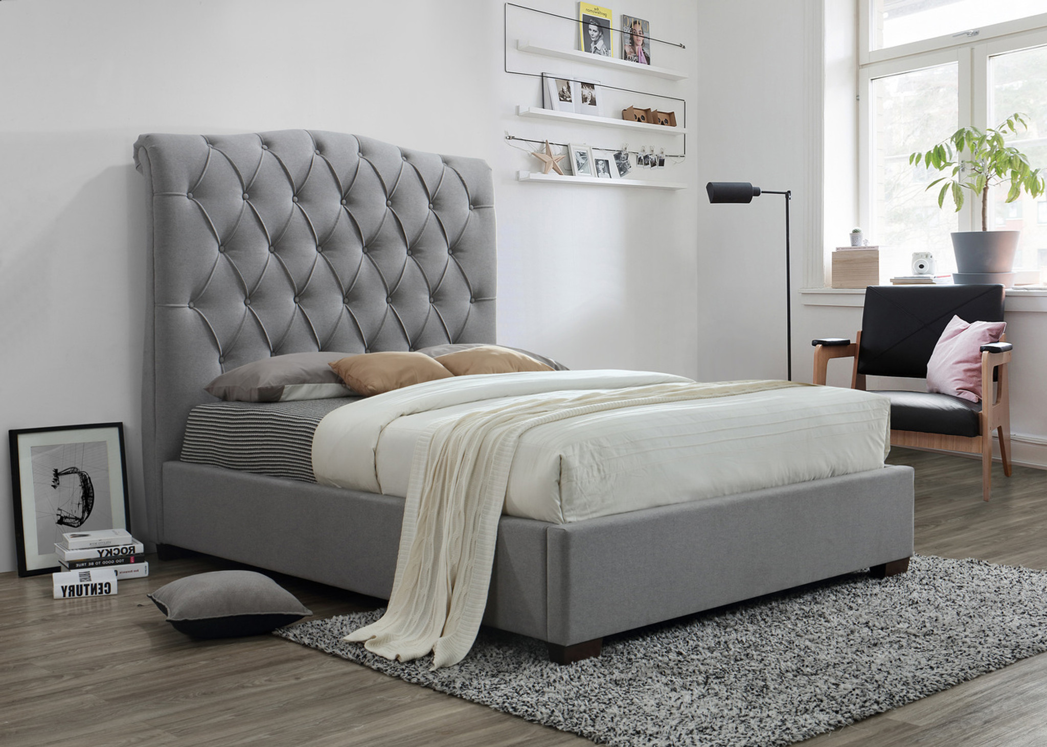 5101 Janice Bed Grey Collection By Crown Mark