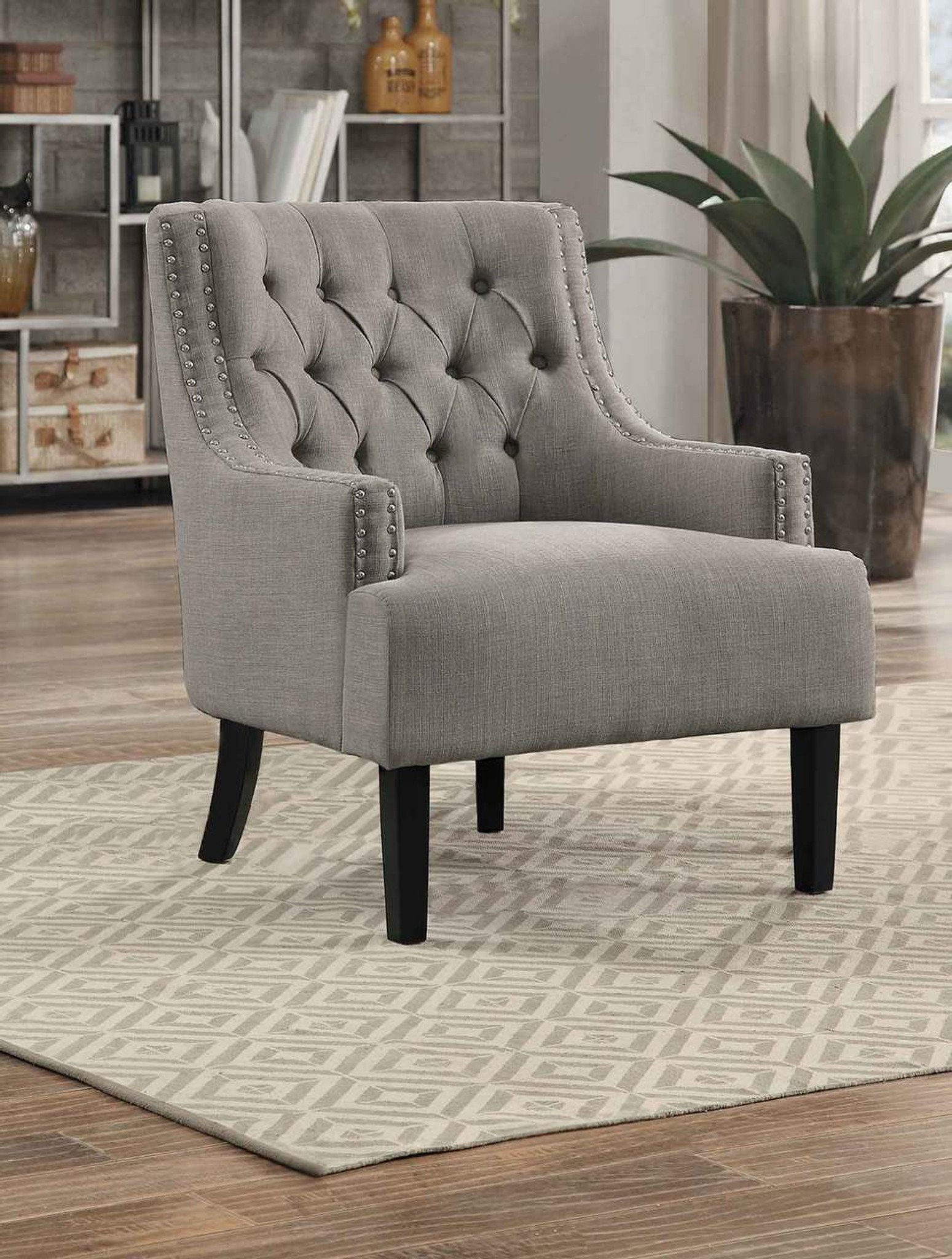 Awe Inspiring Charisma Accent Chair Taupe Creativecarmelina Interior Chair Design Creativecarmelinacom