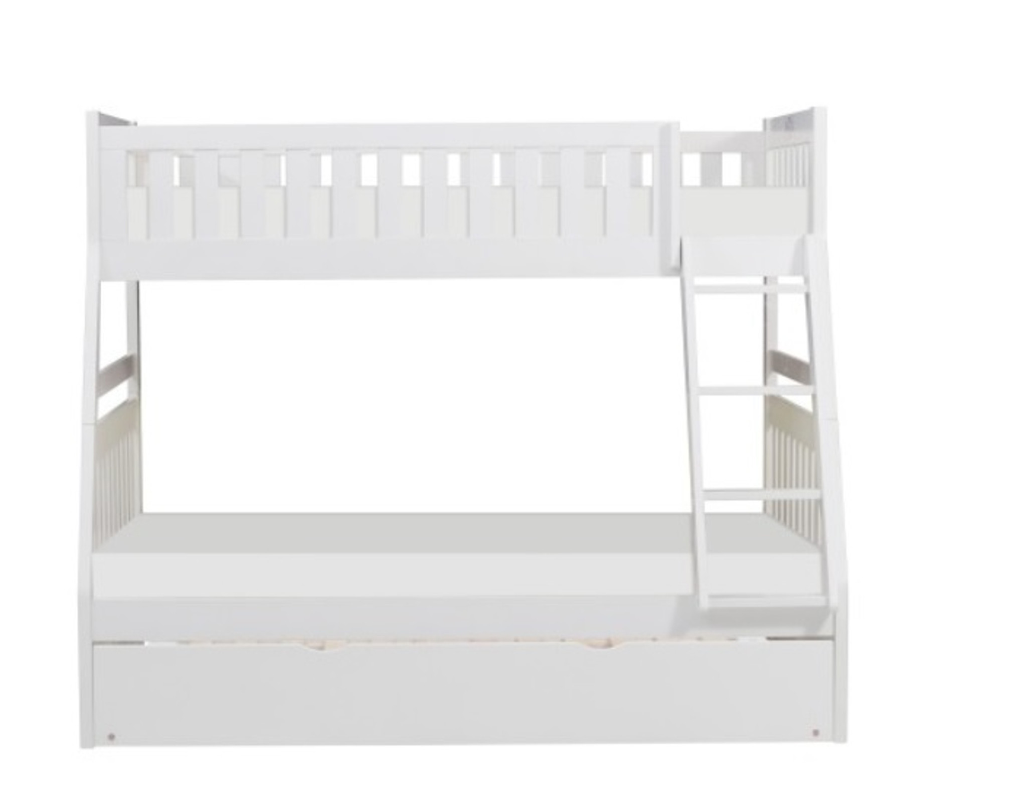Picture of: B2053tfw 1 Galen Twin Over Full Bunk Bed White Collection By Home Elegance