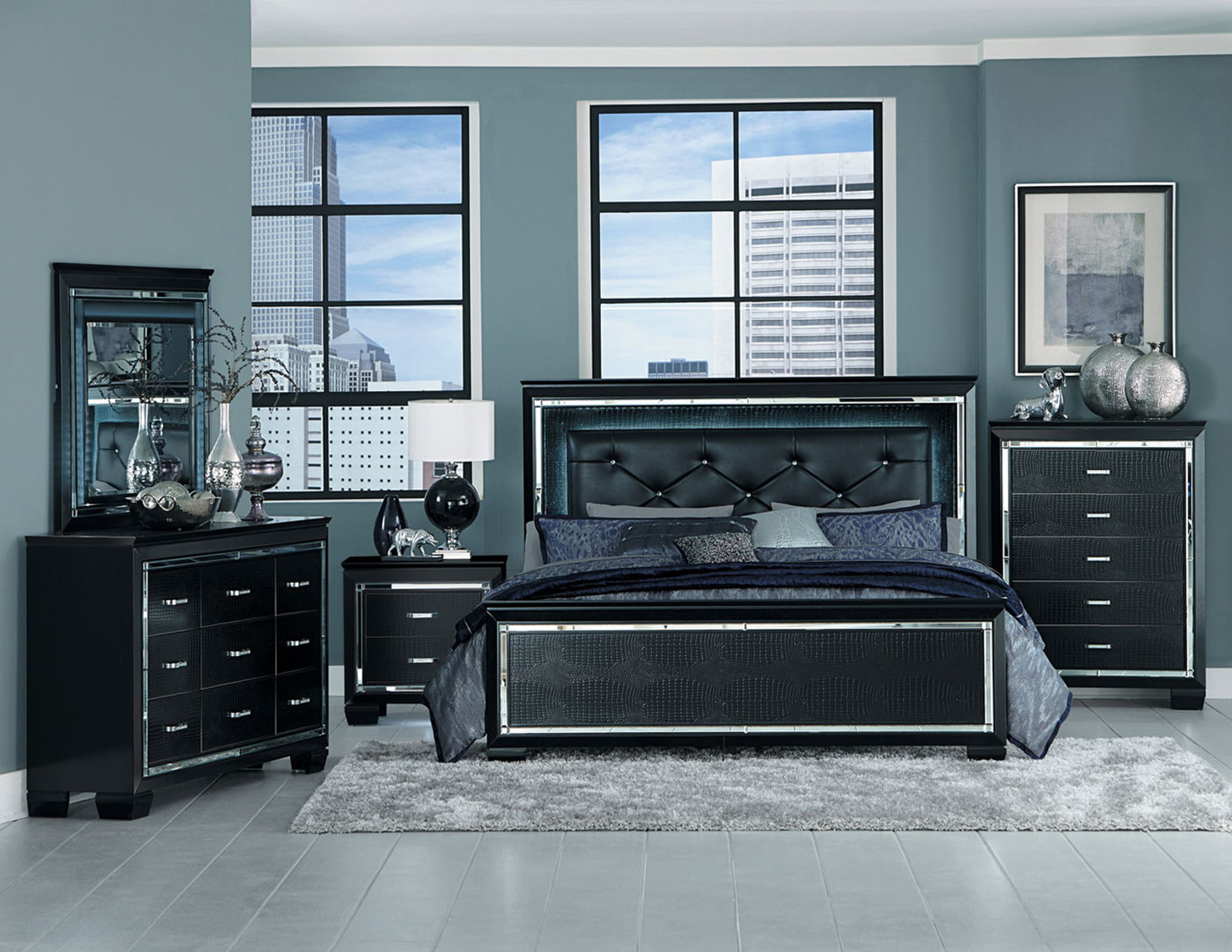 ALLURA COLLECTION 6PC BEDROOM SET