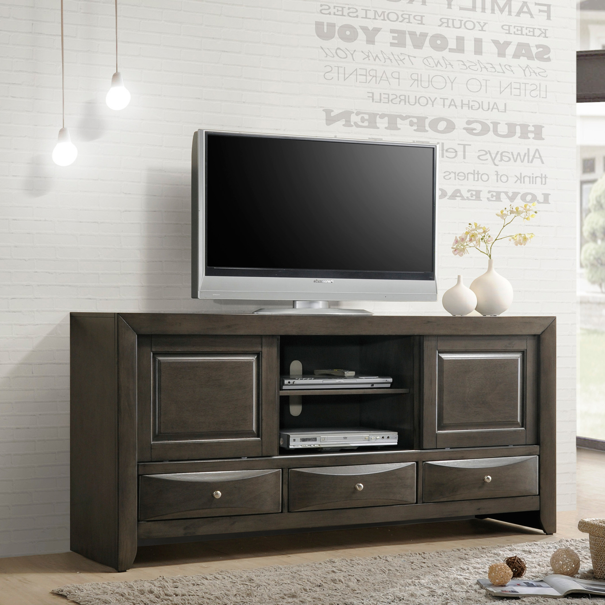 Emily Tv Stand In Grey Kassa Mall Home Furniture