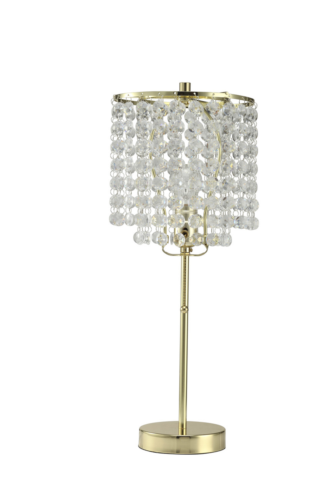6213t Gd Chandelier Gold Table Lamp Collection By Crown Mark