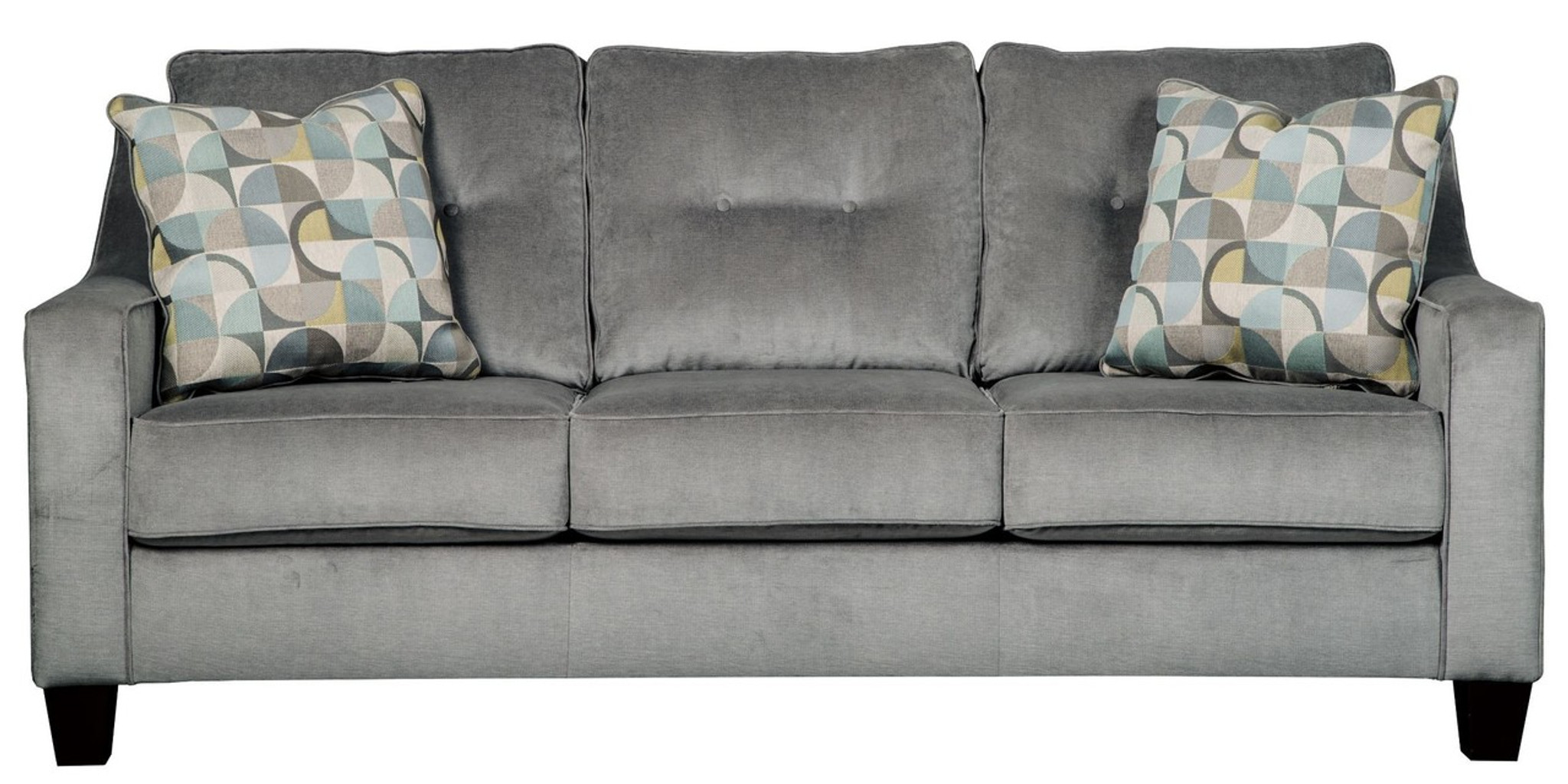 Stupendous Bizzy Smoke Collection Queen Sofa Sleeper Onthecornerstone Fun Painted Chair Ideas Images Onthecornerstoneorg