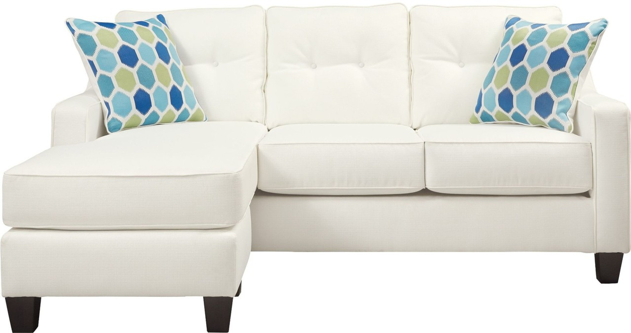 Peachy Aldie Nuvella White Collection Queen Sofa Chaise Sleeper Home Interior And Landscaping Ologienasavecom