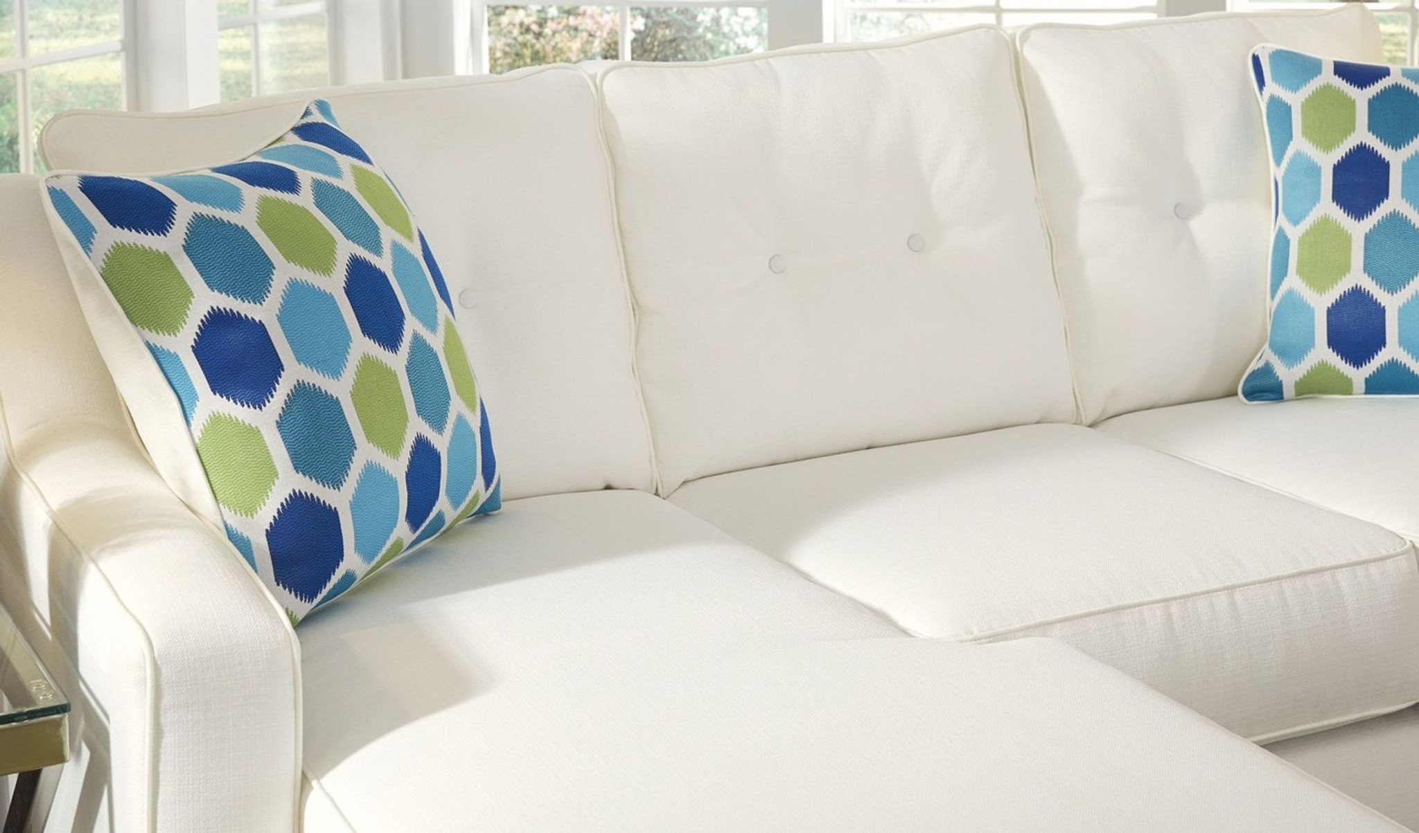 Brilliant Aldie Nuvella White Collection Queen Sofa Chaise Sleeper Home Interior And Landscaping Ologienasavecom