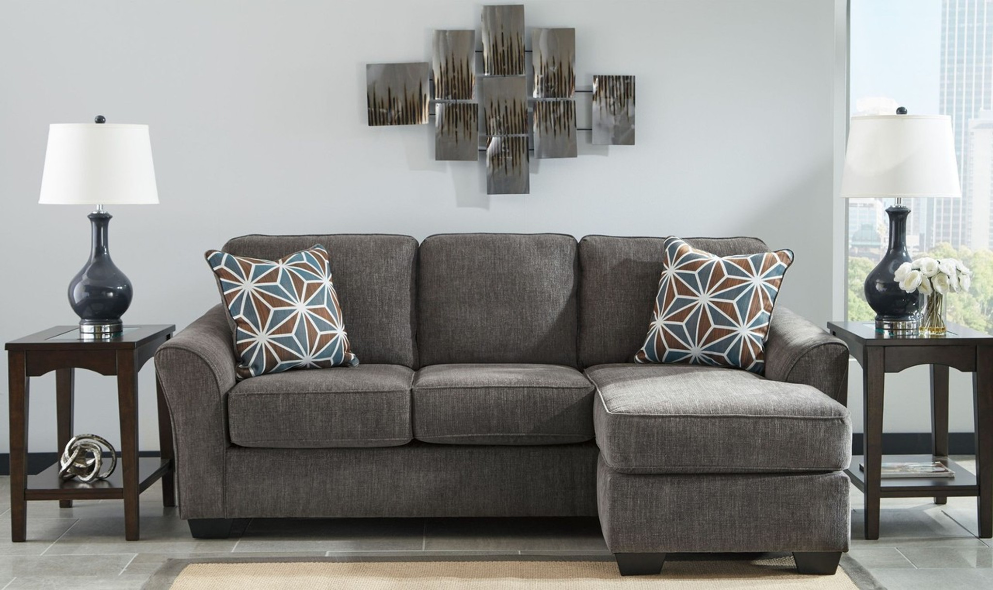 BRISE SLATE COLLECTION SOFA CHAISE