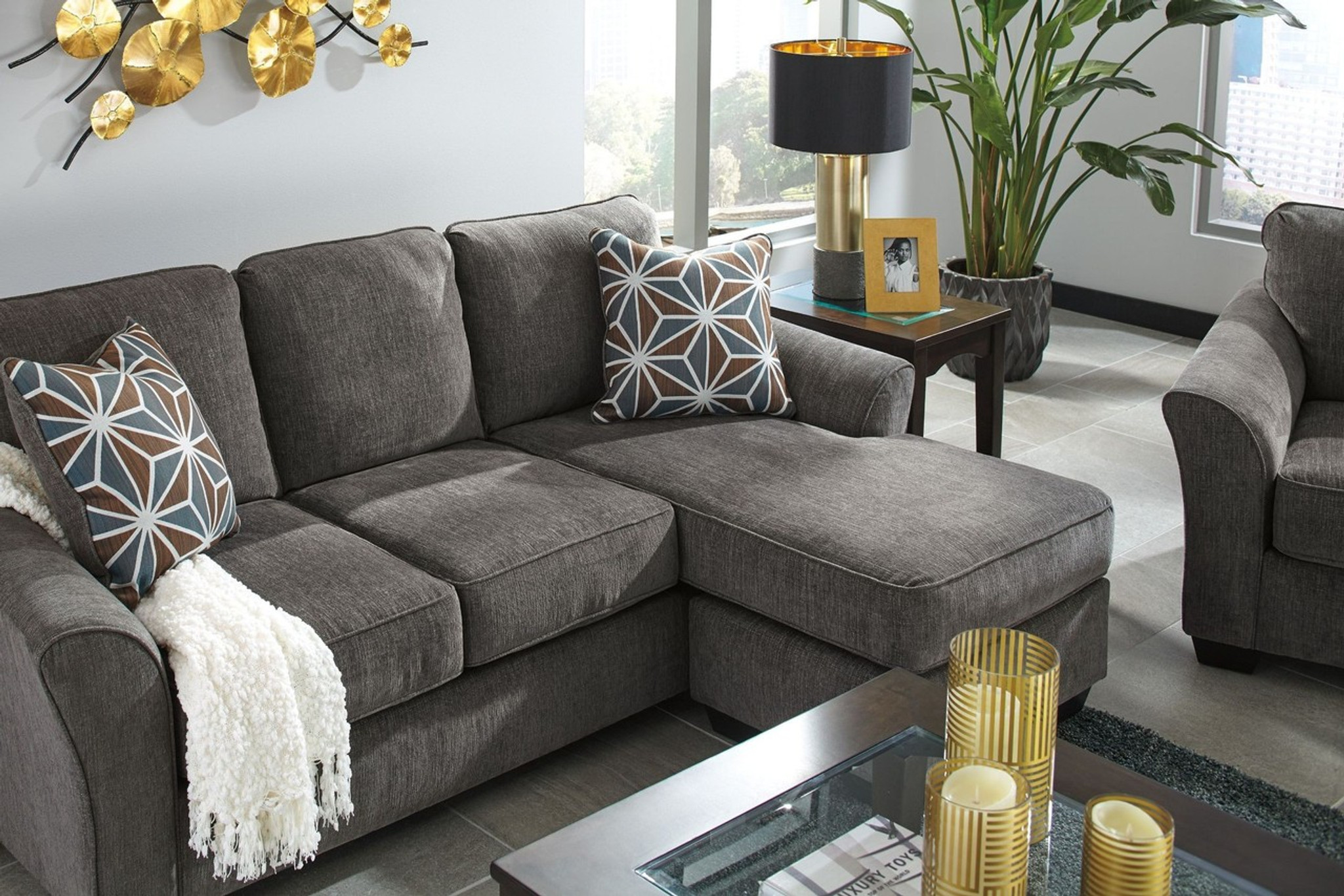 Awe Inspiring Brise Slate Collection Sofa Chaise Dailytribune Chair Design For Home Dailytribuneorg