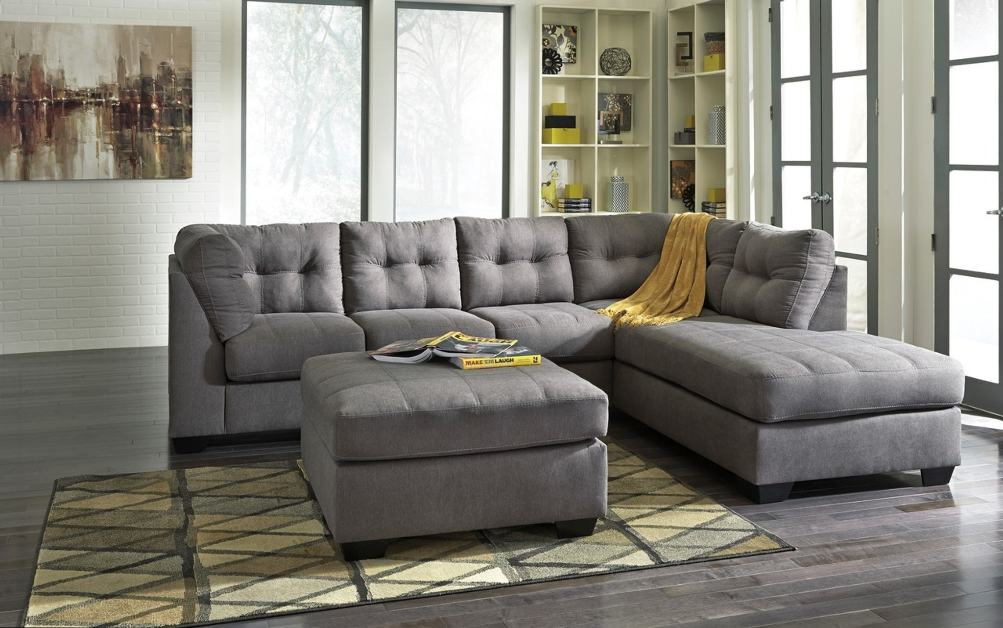 MAIER CHARCOAL COLLECTION SECTIONAL SET