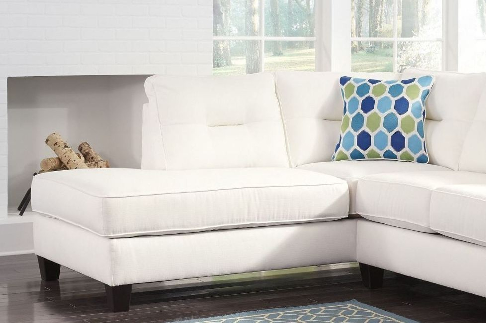 Fabulous Kirwin Nuvella White Collection Sectional Set Home Interior And Landscaping Palasignezvosmurscom
