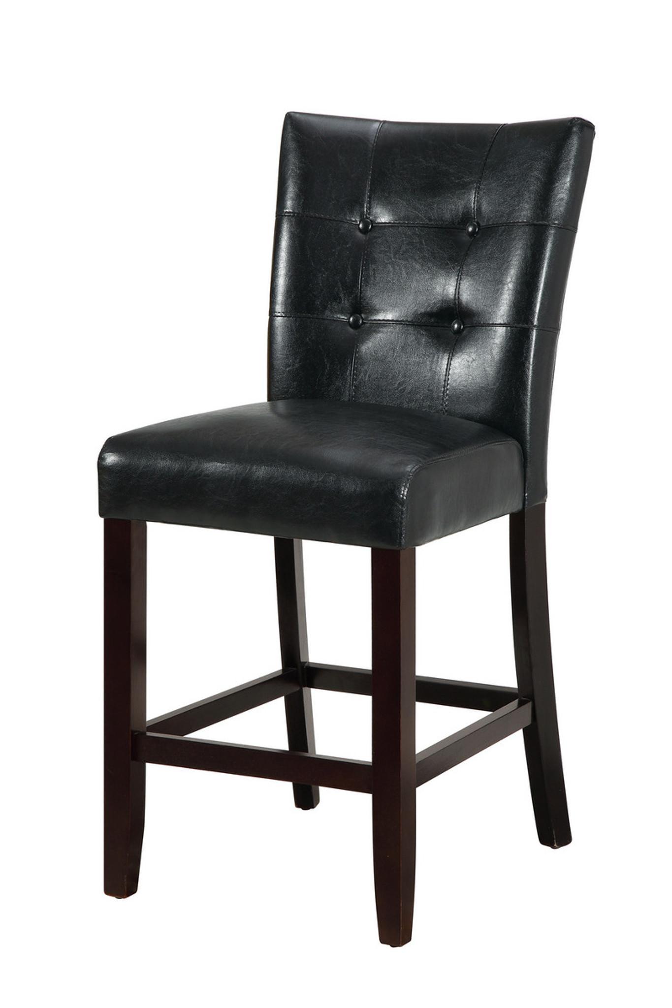 Pleasing 2Pcs Black Pu High Chair Set Dailytribune Chair Design For Home Dailytribuneorg
