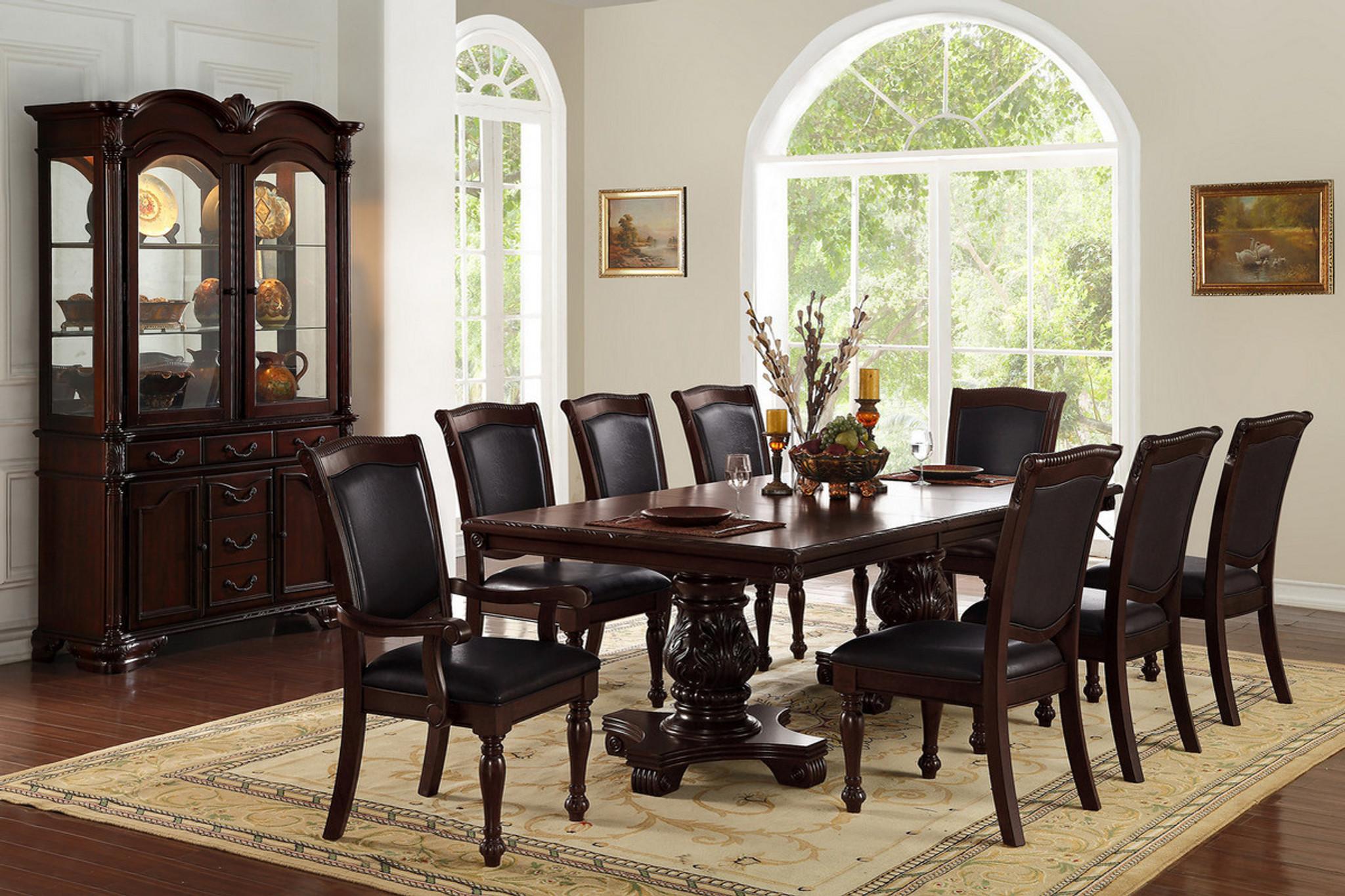 7PCS CHERRY DINING TABLE SET