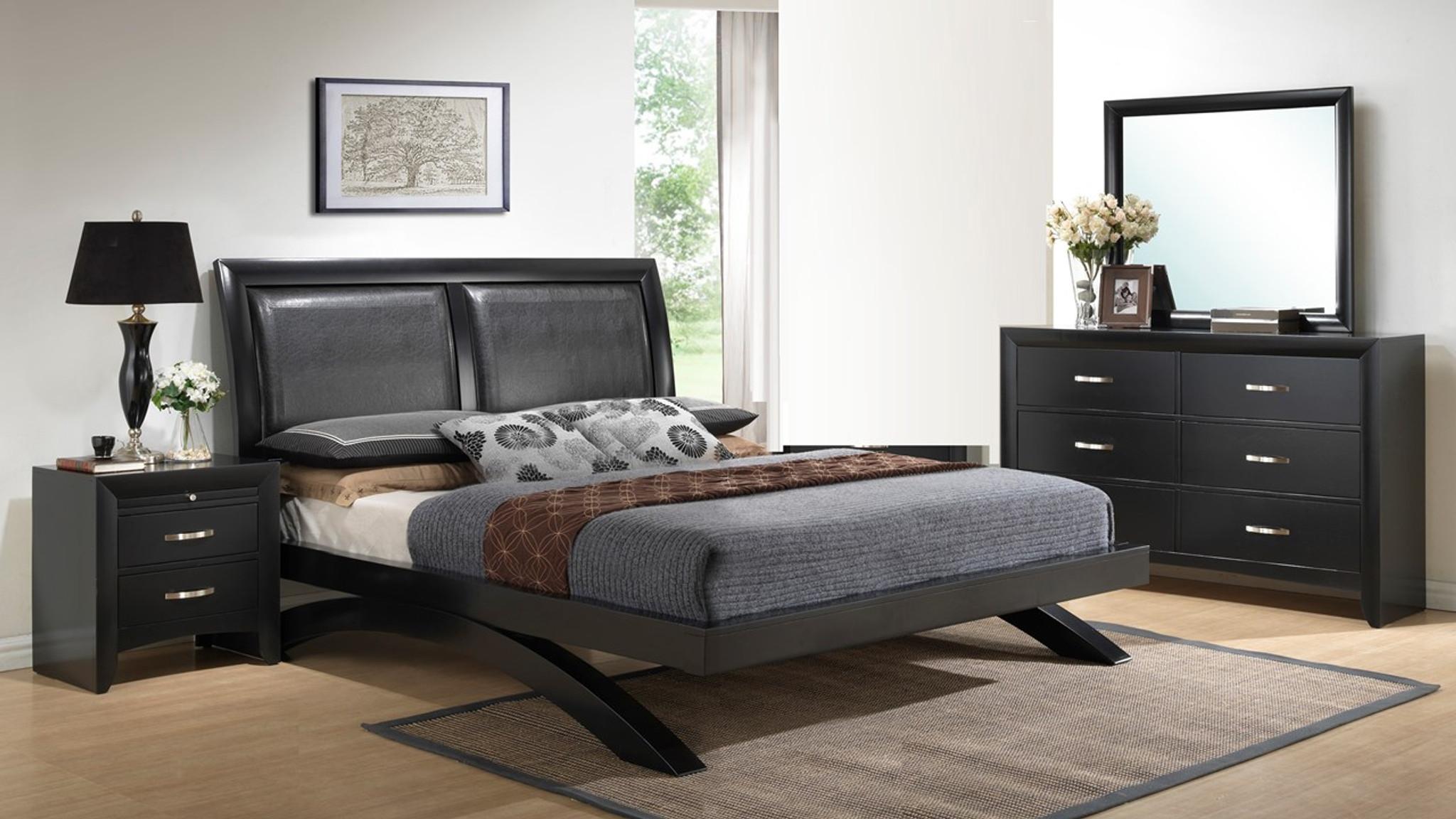 B4380 6 Pcs Galinda Platform Bedroom Set By Crown Mark