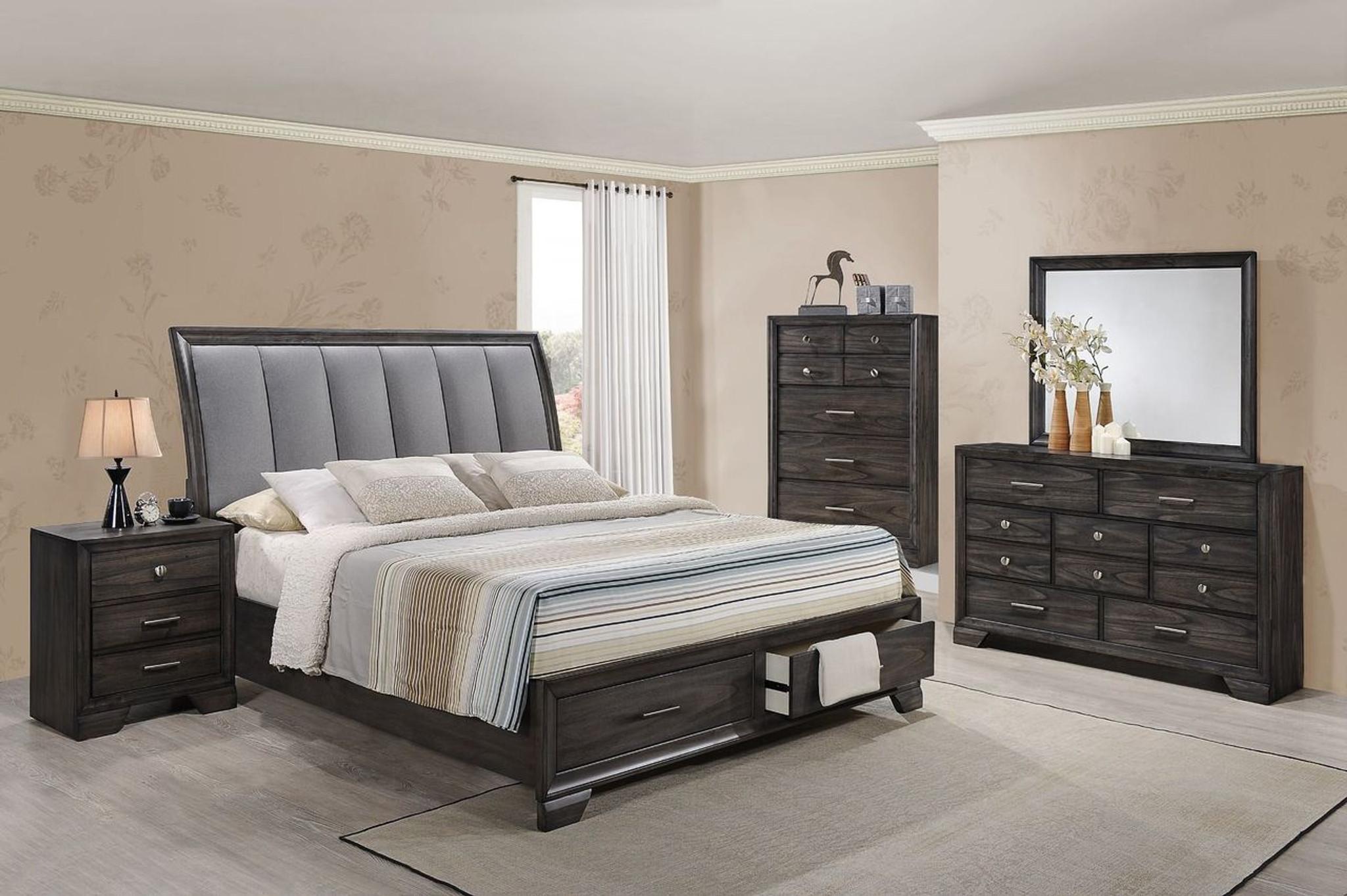 B6580 6 Pcs Jaymes Platform Bedroom Set By Crown Mark