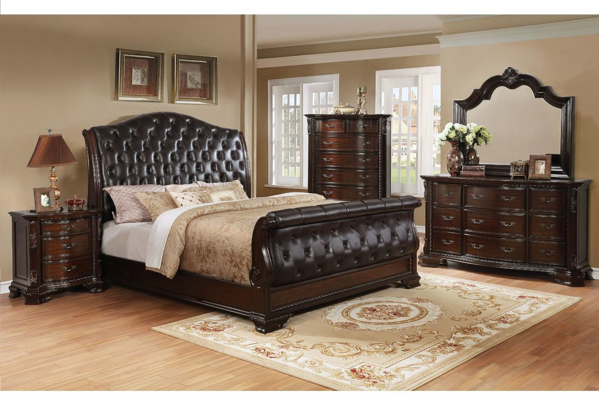 B1100 88 6 Pcs Sheffield Sleigh Bedroom Set By Crown Mark