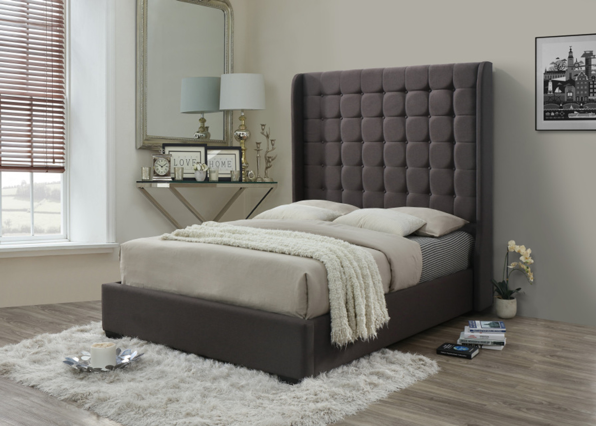Picture of: Hollywood Hollywood Queen Size Platform Bed Collection By Happy Homes
