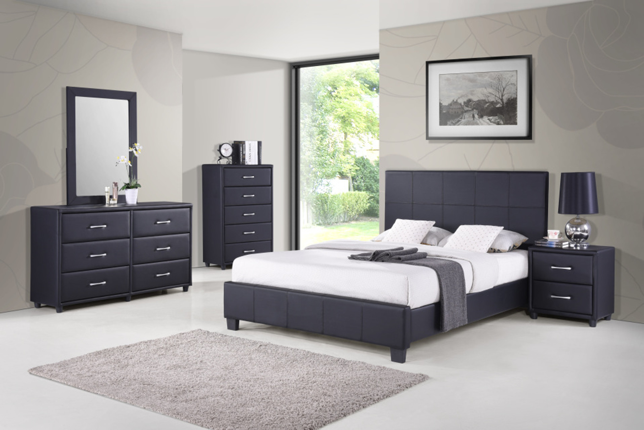 Beverly 5 Pcs Beverly Queen Bedroom Set Collection By Happy Homes