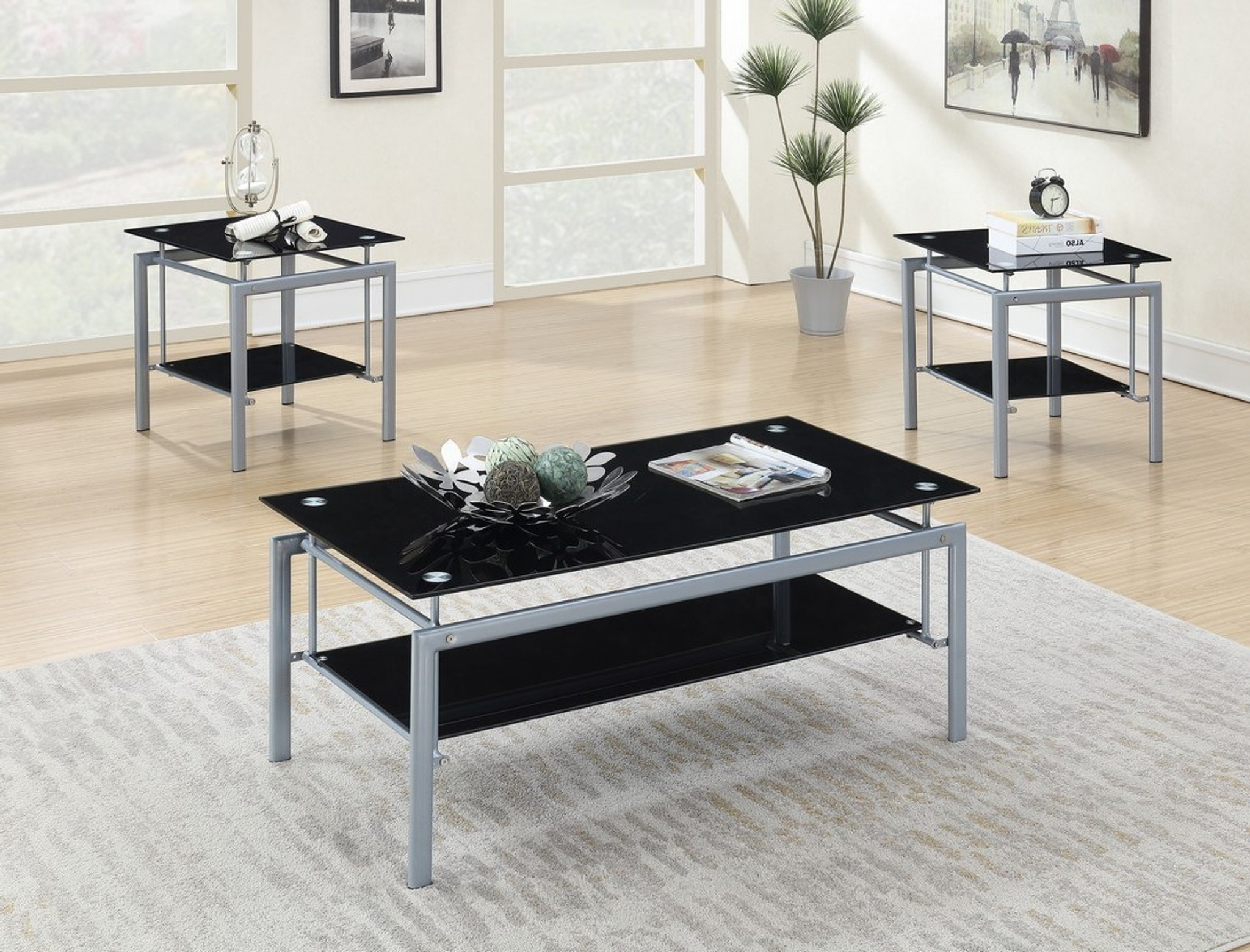 Picture of: F3148 3 Pcs Silvestro Coffee Table Set By Poundex