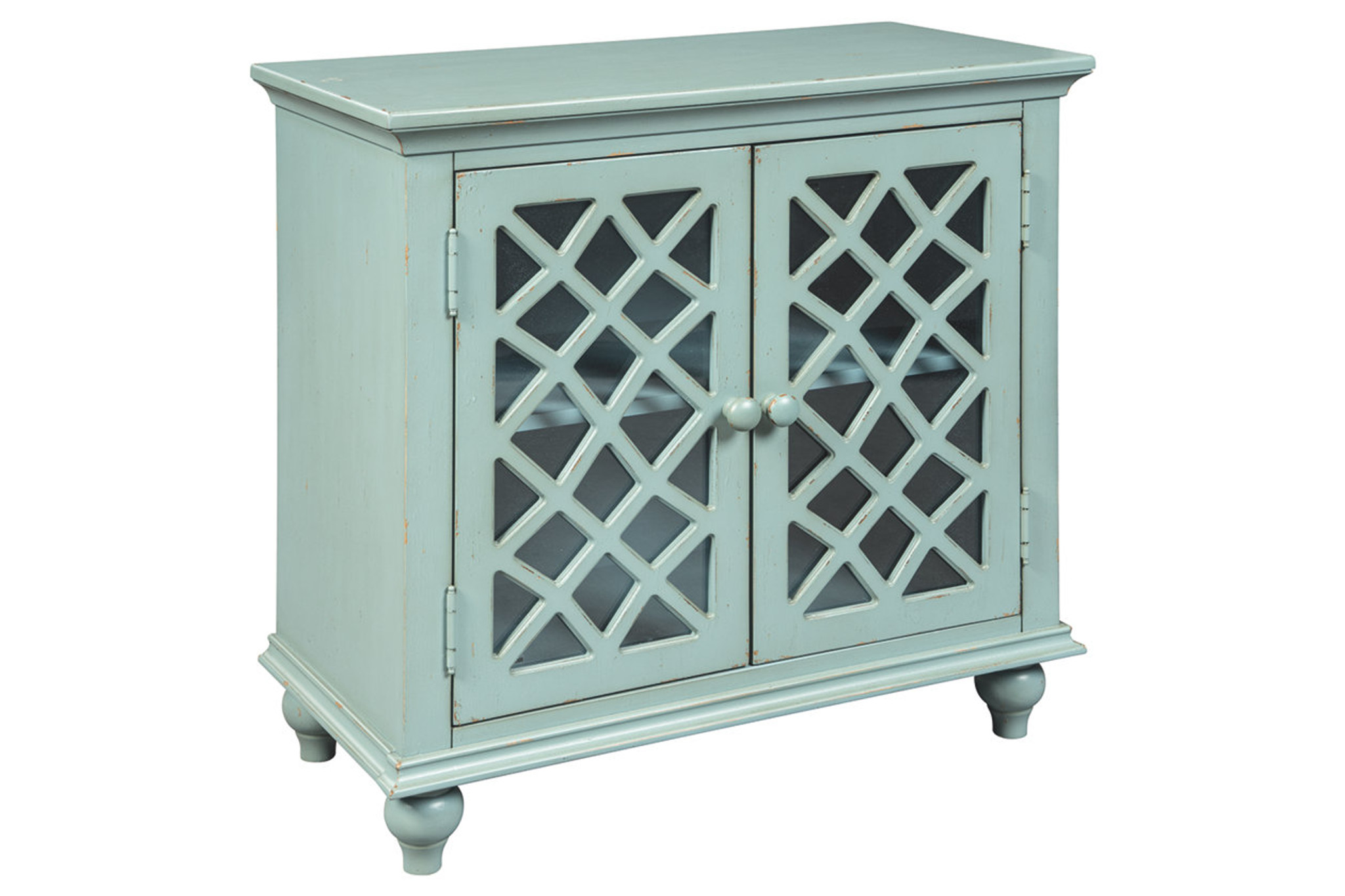 A4000061 Mirimyn Antique Teal Accent Cabinet Collection By Ashley Furniture