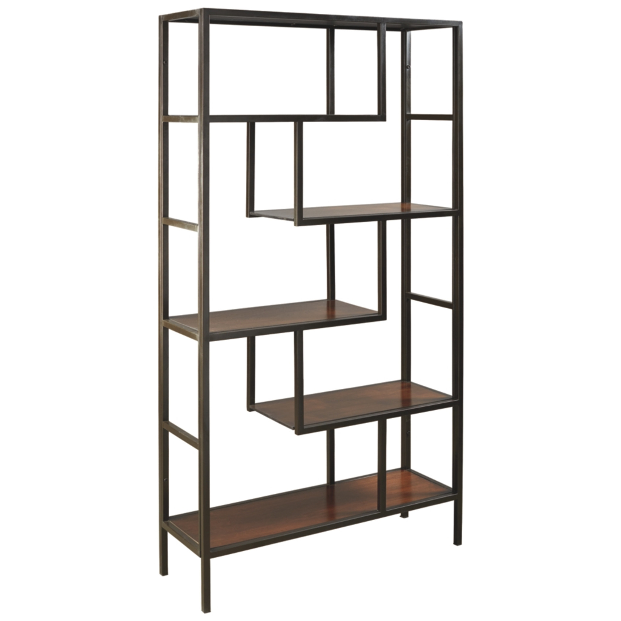 A4000021 Frankwell Brown Black Bookcase Collection By Ashley Furniture