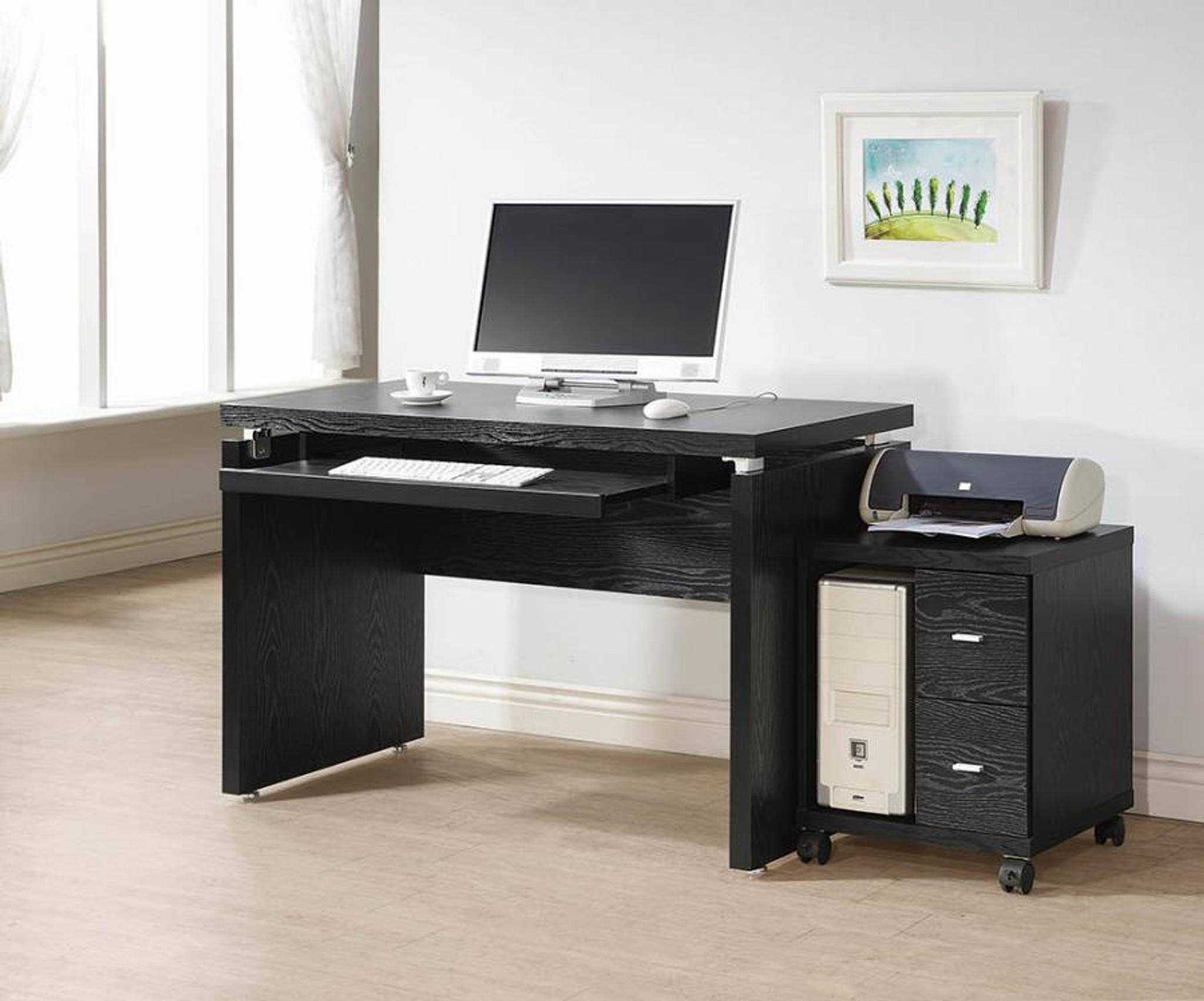 Cool Computer Desk In Black Oak Color Download Free Architecture Designs Scobabritishbridgeorg