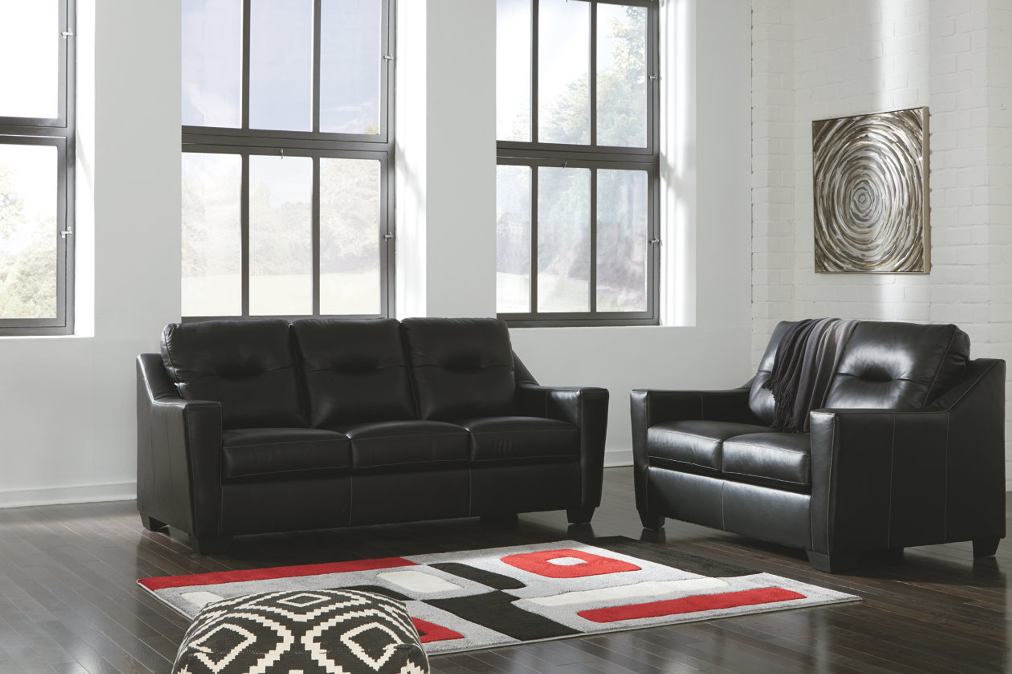 Prime 2 Pcs Kensbridge Black Leather Sofa Loveseat Andrewgaddart Wooden Chair Designs For Living Room Andrewgaddartcom