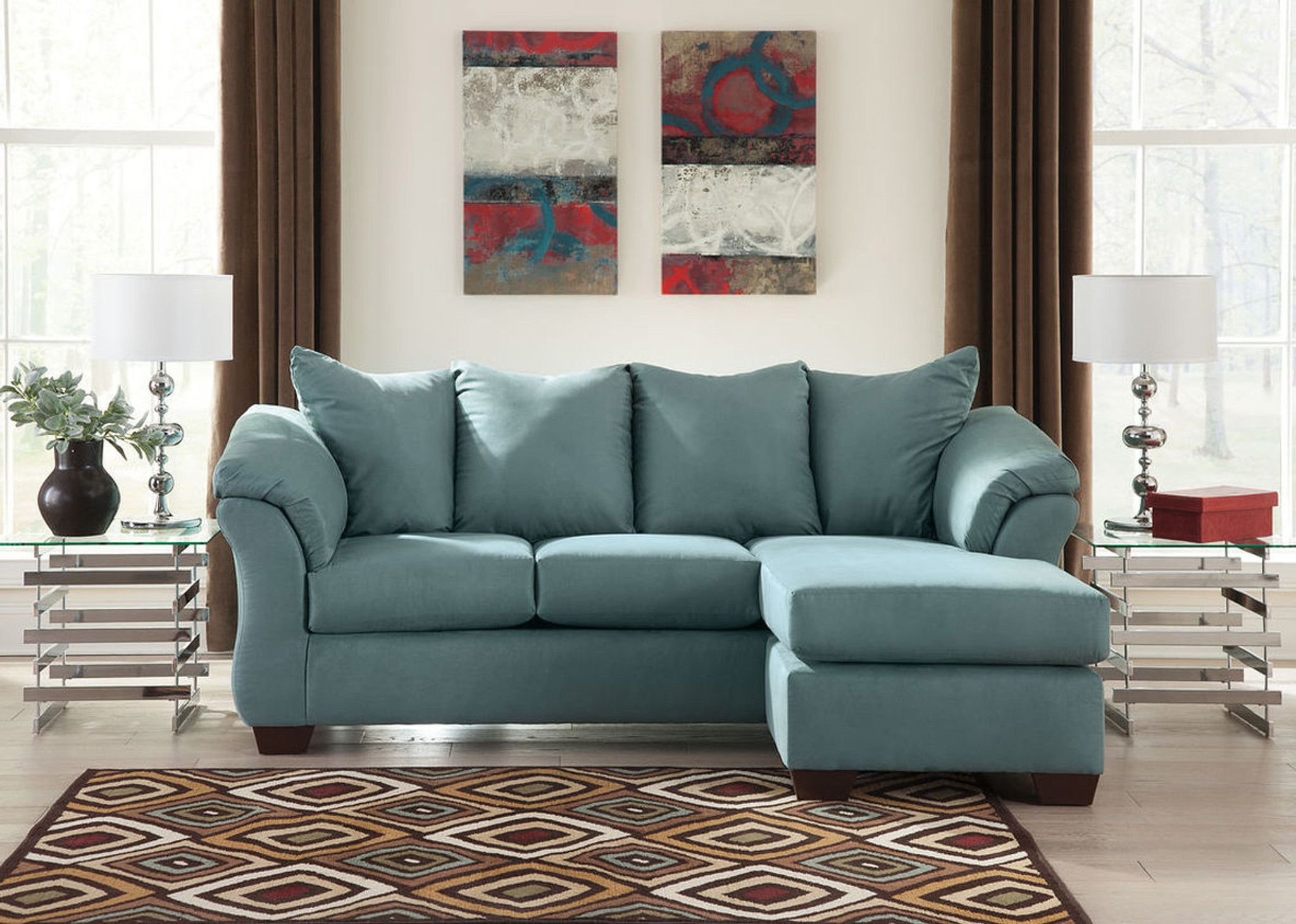 Awe Inspiring Darcy Sky Sofa Chaise Machost Co Dining Chair Design Ideas Machostcouk