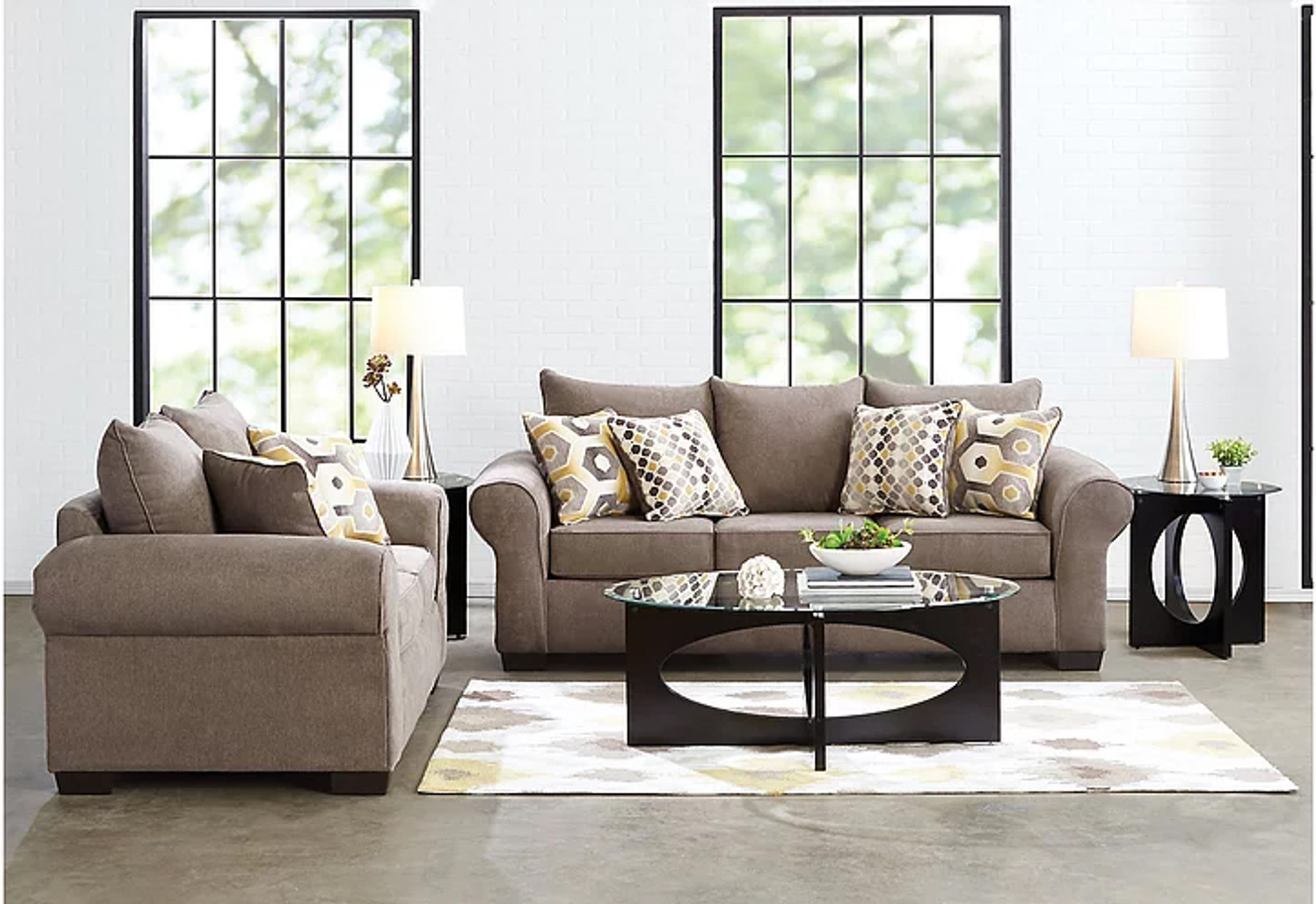 Superb 2 Pcs Felix Platinum Sofa Loveseat Set Home Interior And Landscaping Ponolsignezvosmurscom